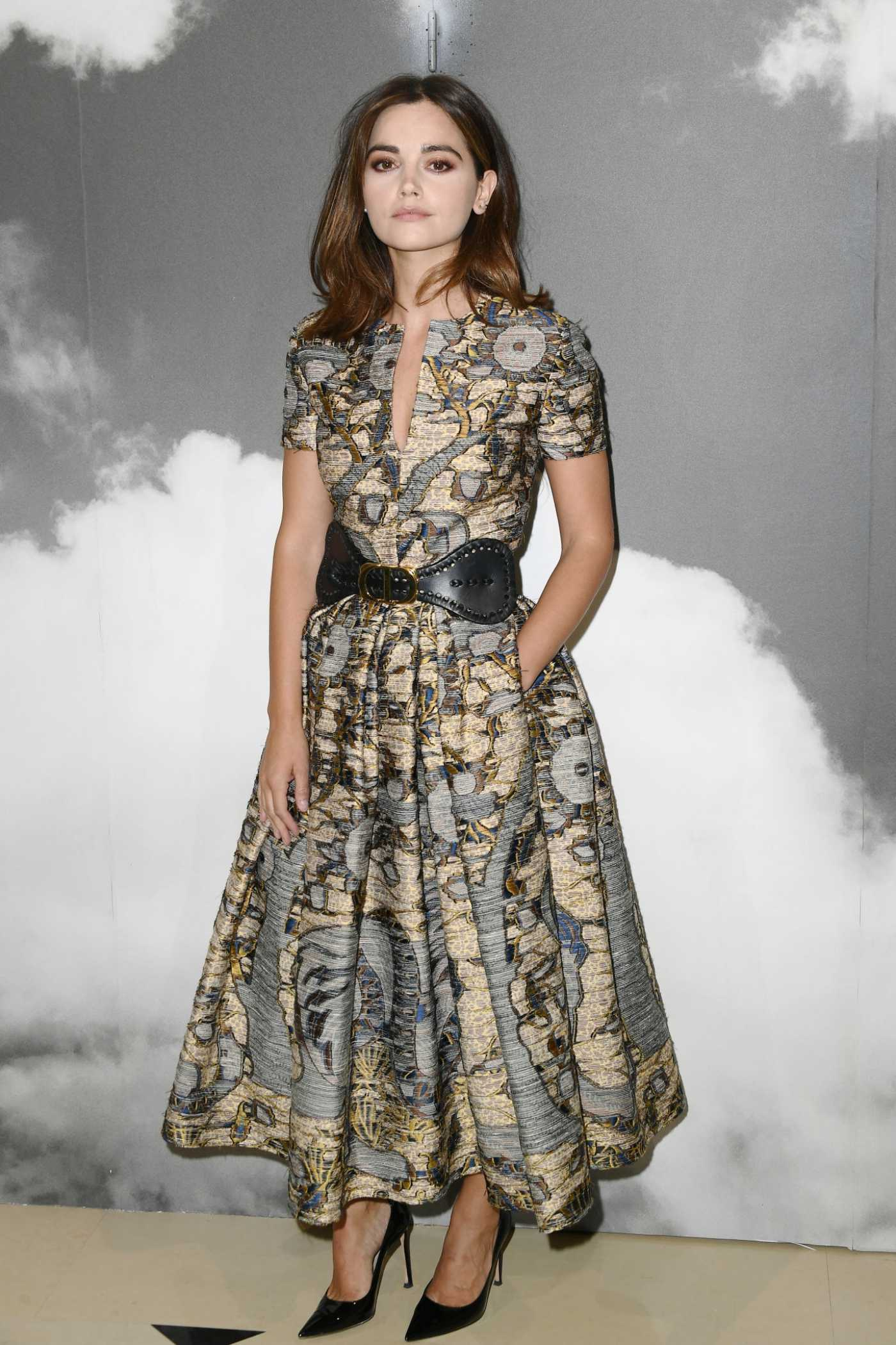 Jenna Coleman Attends the Dior Show During 2019 Paris Fashion Week in Paris 07/01/2019