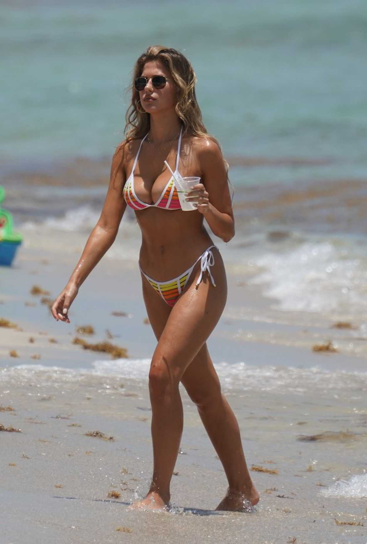 Kara Del Toro in Bikini on the Beach in Miami 07/30/2019