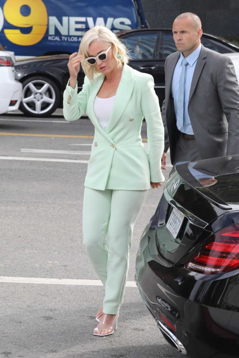 Katy Perry in a Green Suit