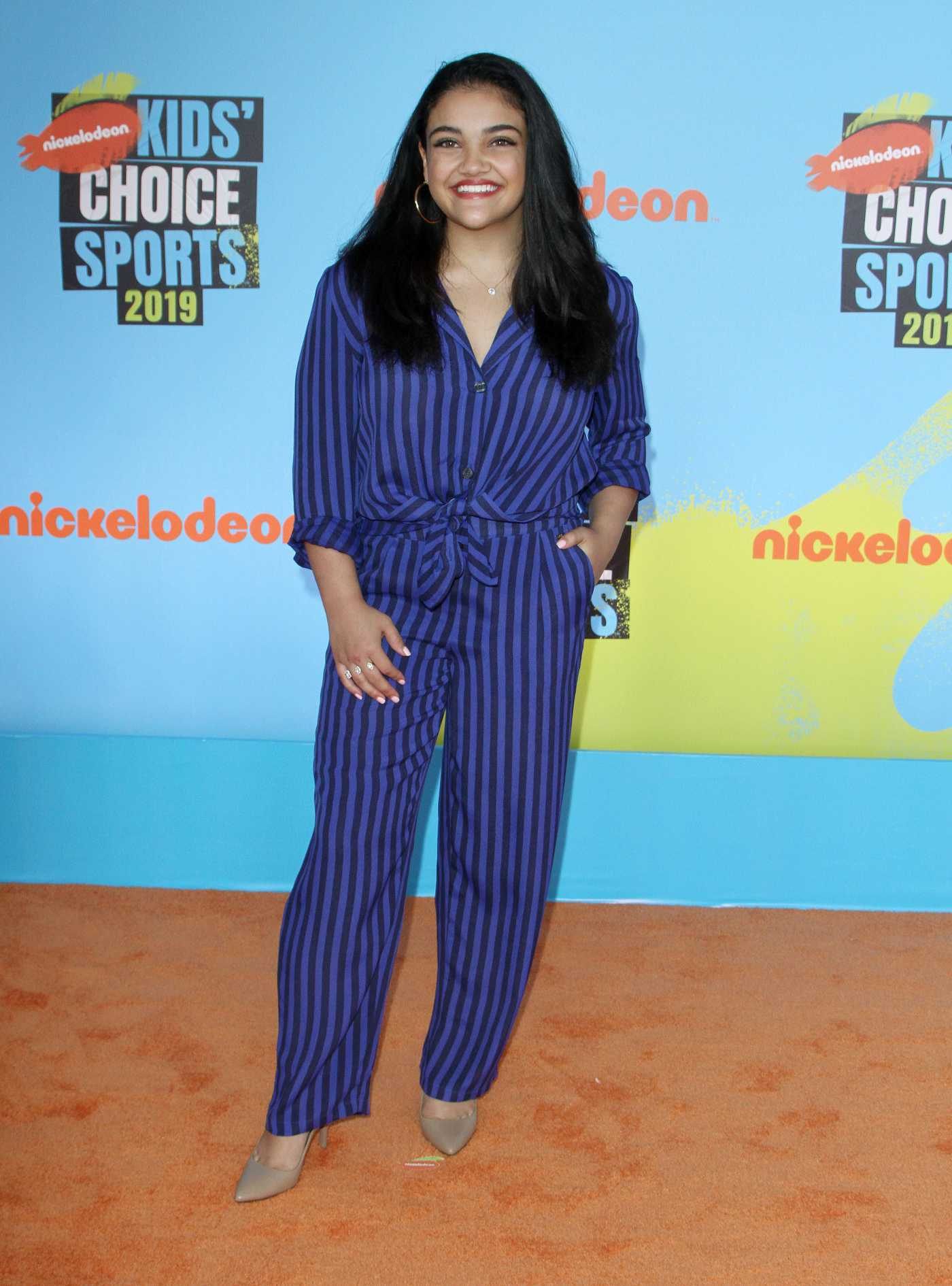 Laurie Hernandez Attends Nickelodeon Kids' Choice Sports Awards in Los Angeles 07/11/2019