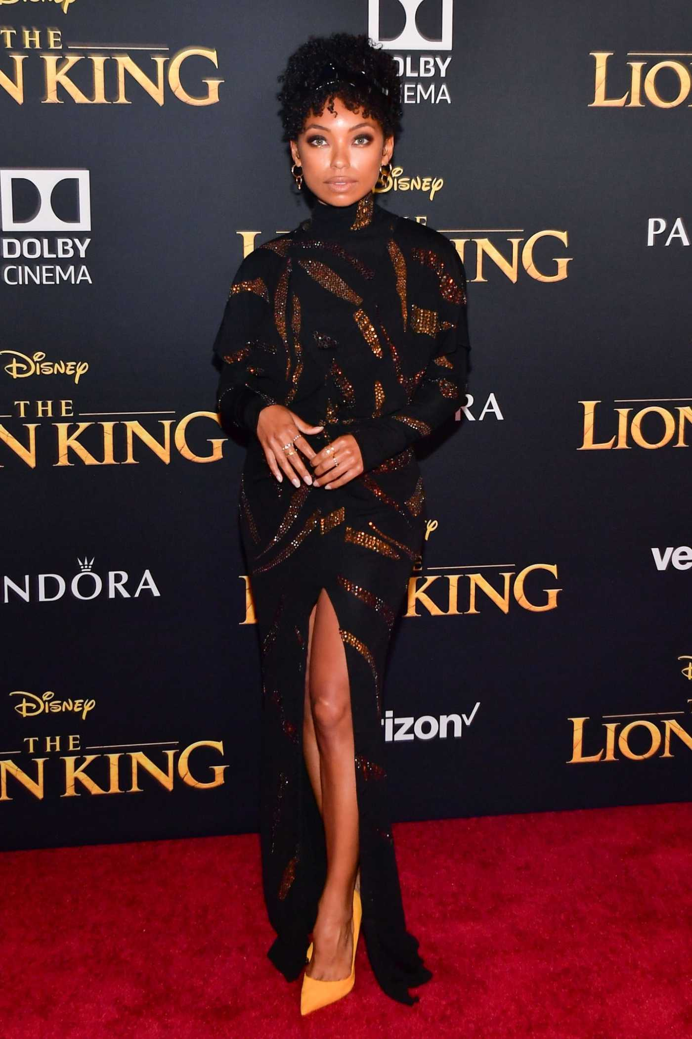 Logan Browning Attends The Lion King Premiere at Dolby Theatre in Hollywood 07/09/2019