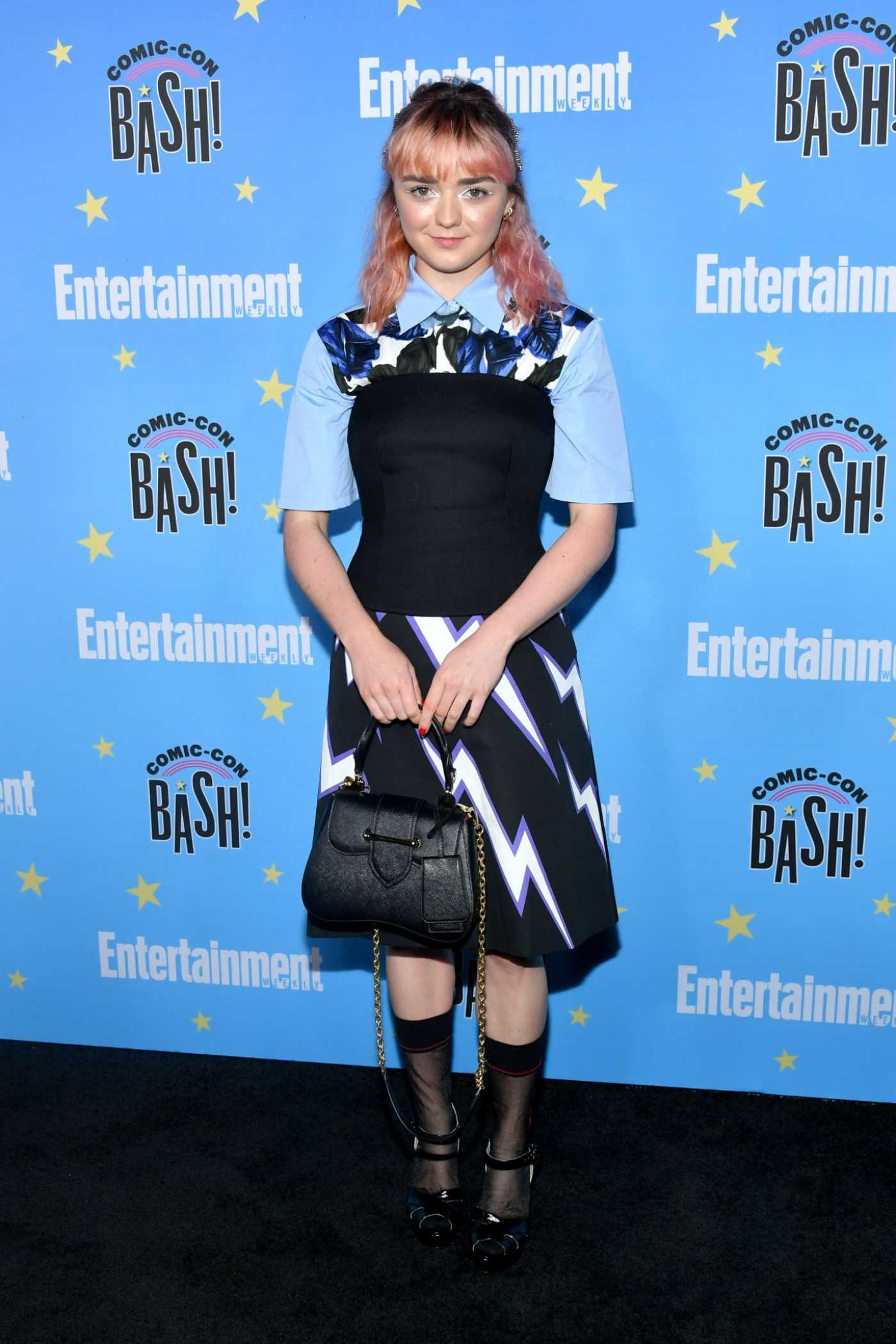 Maisie Williams Attends Entertainment Weekly's Comic-Con Bash in San Diego 07/20/2019