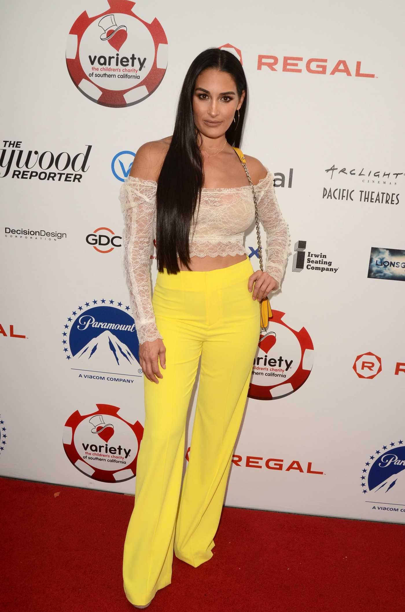 Nikki Bella Attends the 9th Annual Variety Charity Poker and Casino Night at Paramount Studios in Los Angeles 07/24/2019