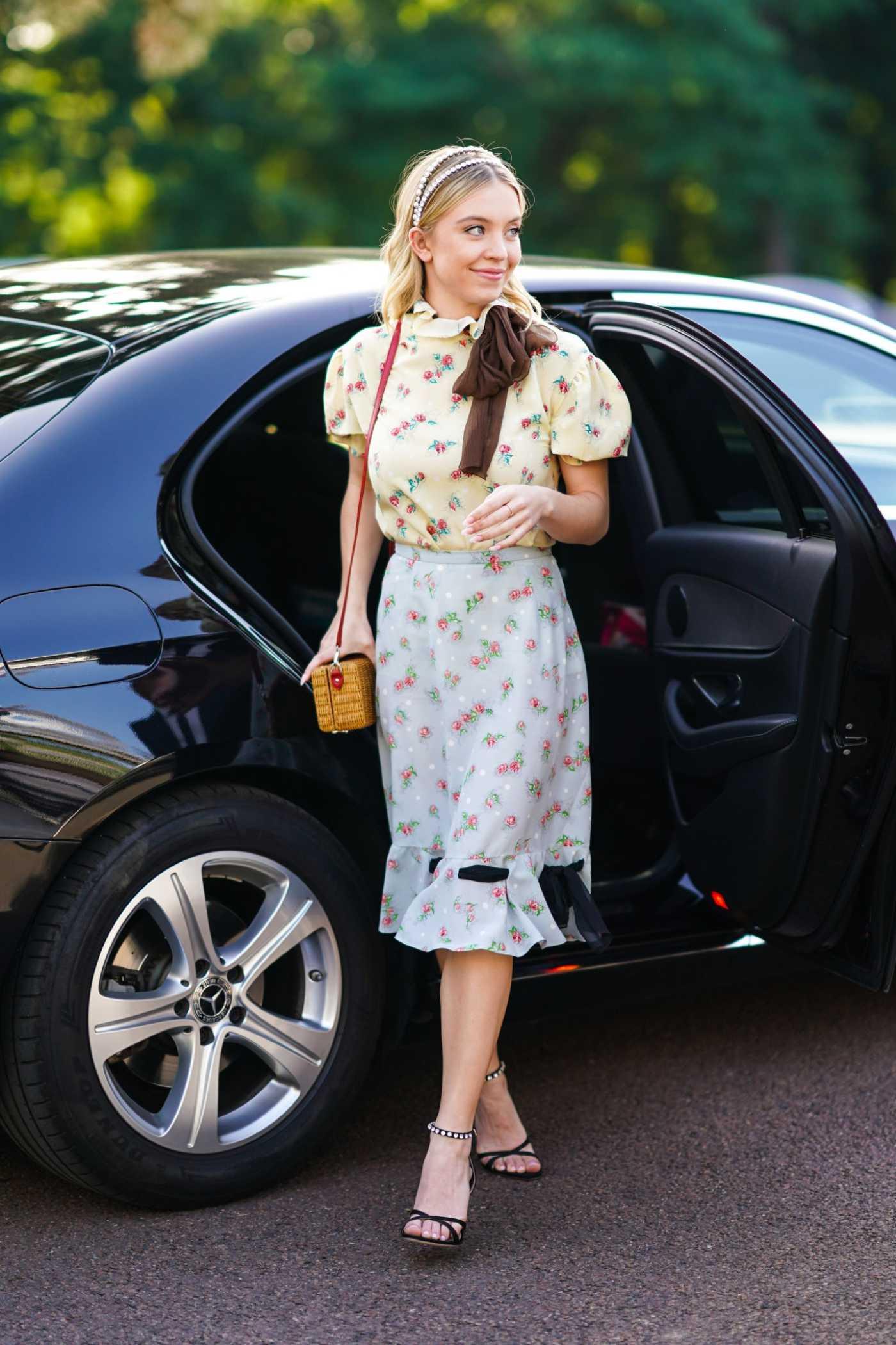 Sydney Sweeney Arrives at the Miu Miu Club Event in Paris 06/29/2019