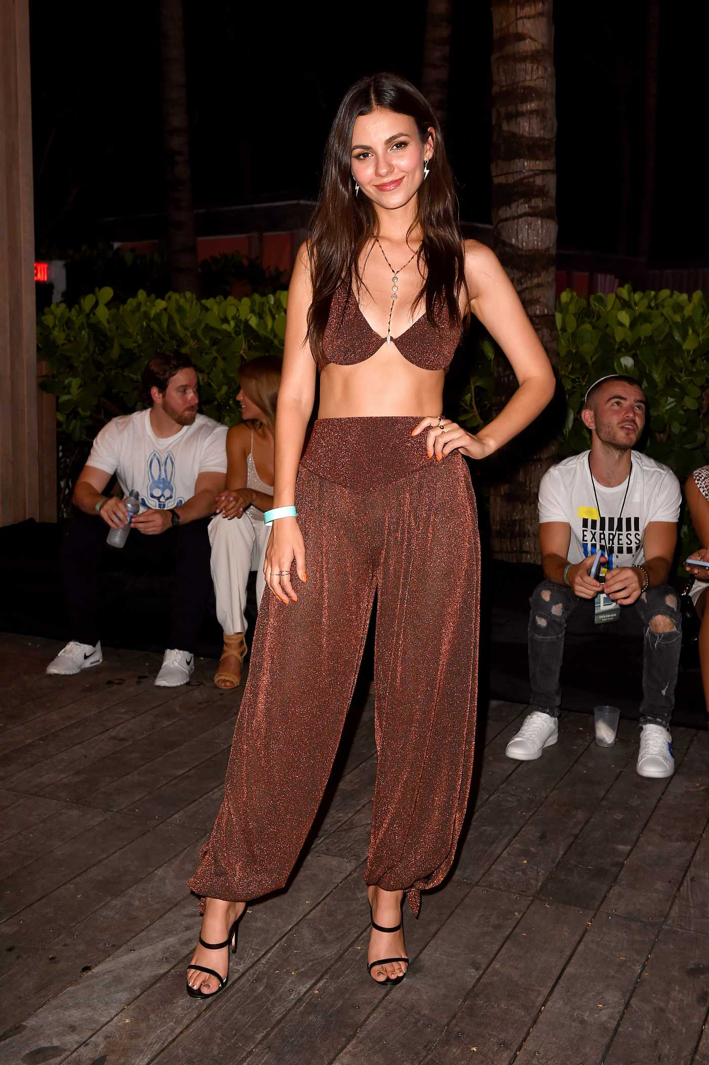 Victoria Justice Attends the Badgley Mishka Swimwear 2020 Collection Runway Show in Miami 07/13/2019