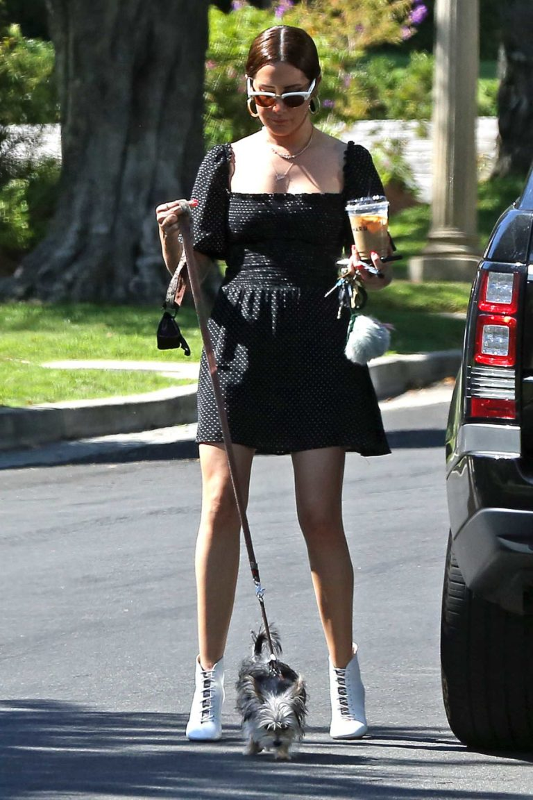 Ashley Tisdale in a Black Dress