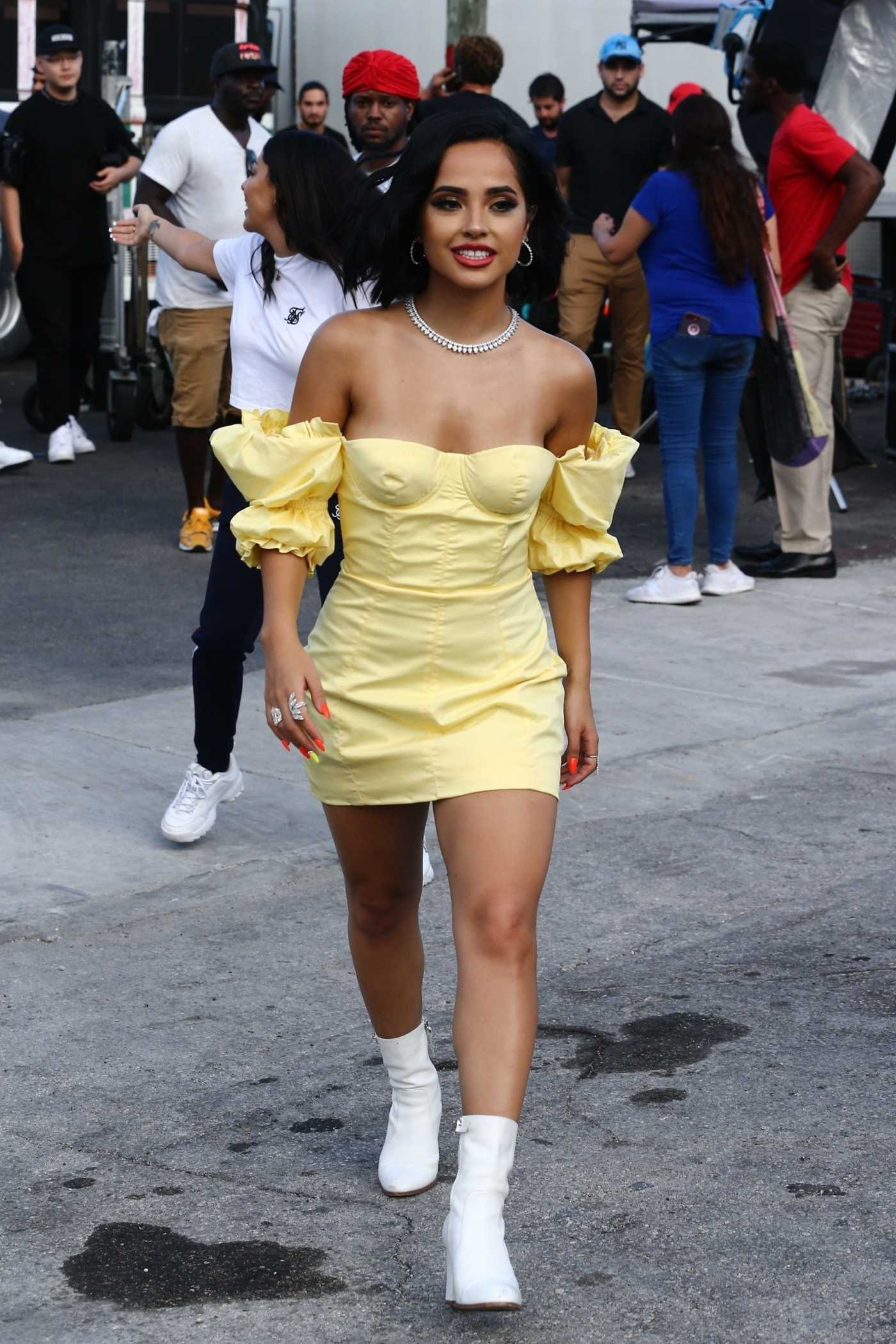 Becky G in a Yellow Dress Was Seen Out in Miami 07/30/2019