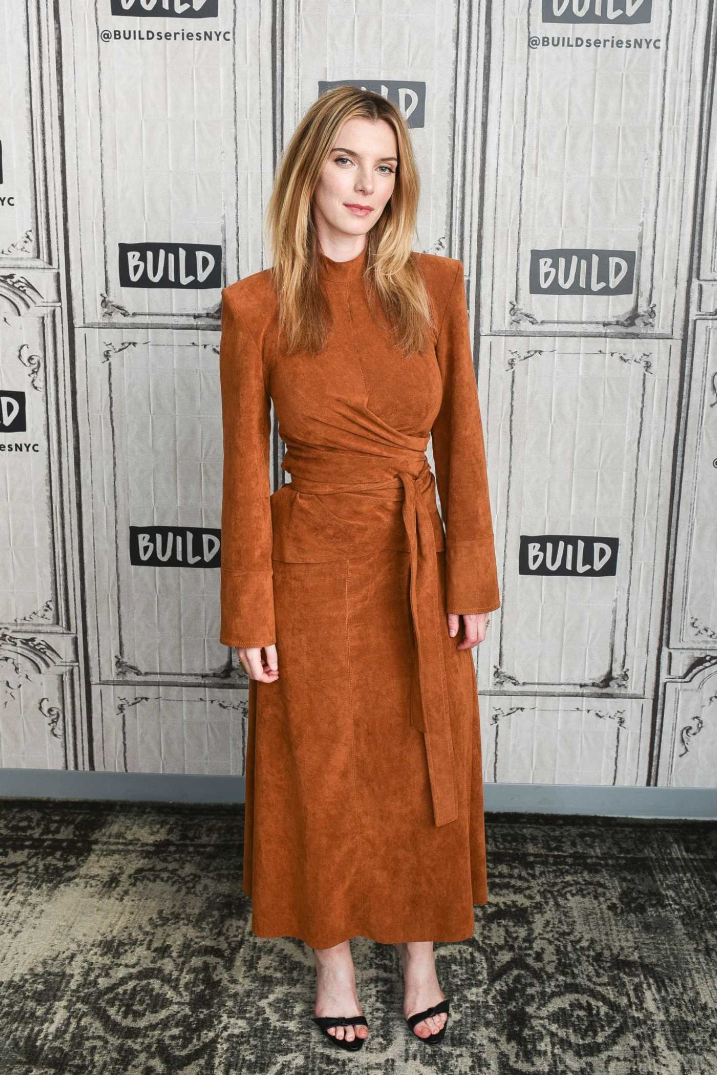 Betty Gilpin Attends AOL Build Series in New York 08/13/2019