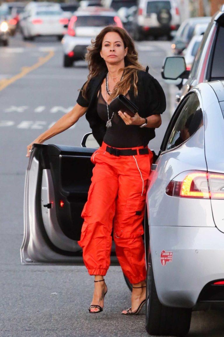 Brooke Burke in a Red Pants