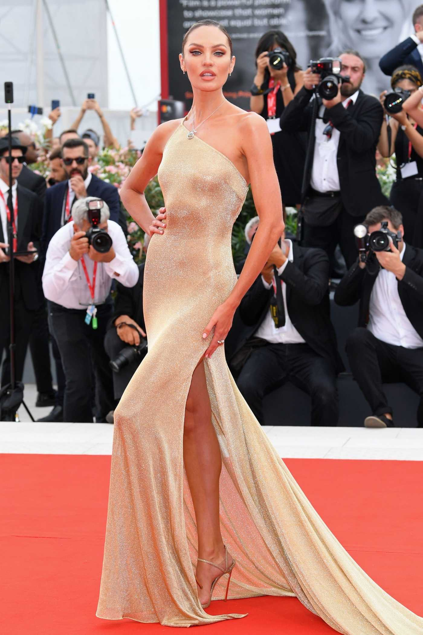 Candice Swanepoel Attends The Truth Screening and Opening Ceremony During the Venice Film Festival in Venice 08/28/2019