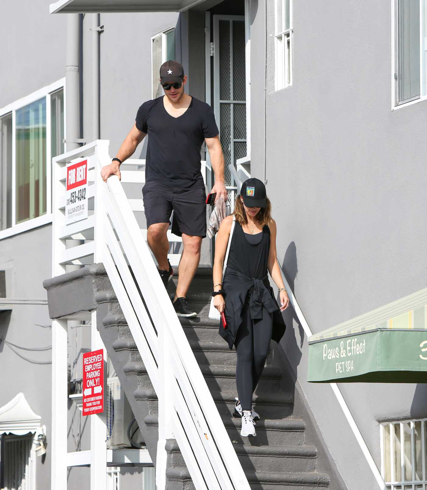 Chris Pratt in a Black Cap Was Seen Out with Katherine Schwarzenegger in Los Angeles 08/16/2019
