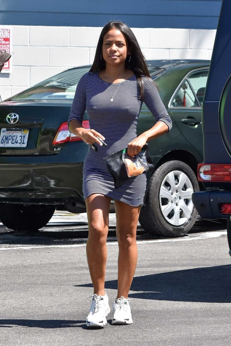 Christina Milian in a White Sneakers