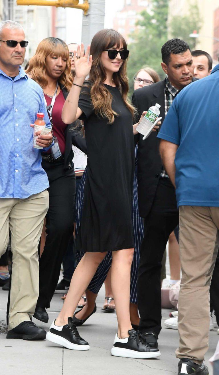 Dakota Johnson in a Black Dress