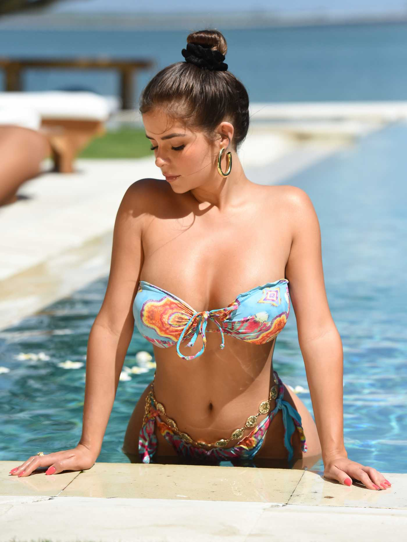 Demi Rose in Bikini by the Pool in Bali, Indonesia 08/03/2019