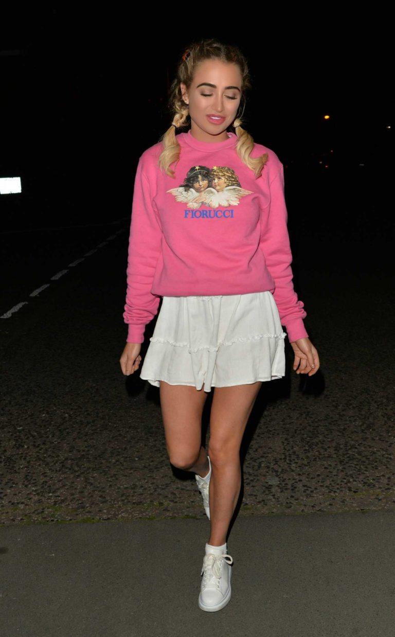 Georgia Harrison in a Pink Sweatshirt
