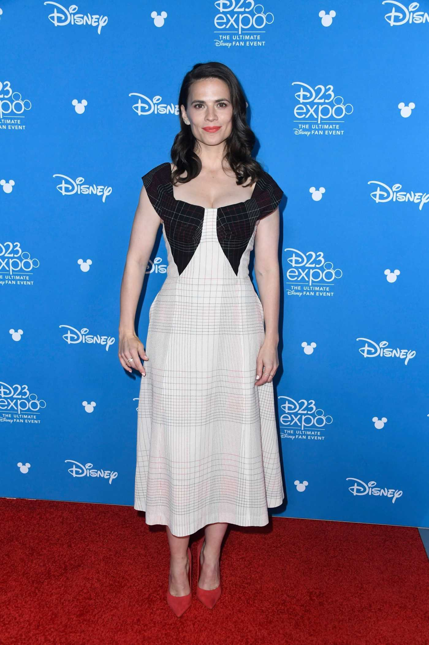 Hayley Atwell Attends D23 Disney + Event at Anaheim Convention Center in Anaheim 08/23/2019