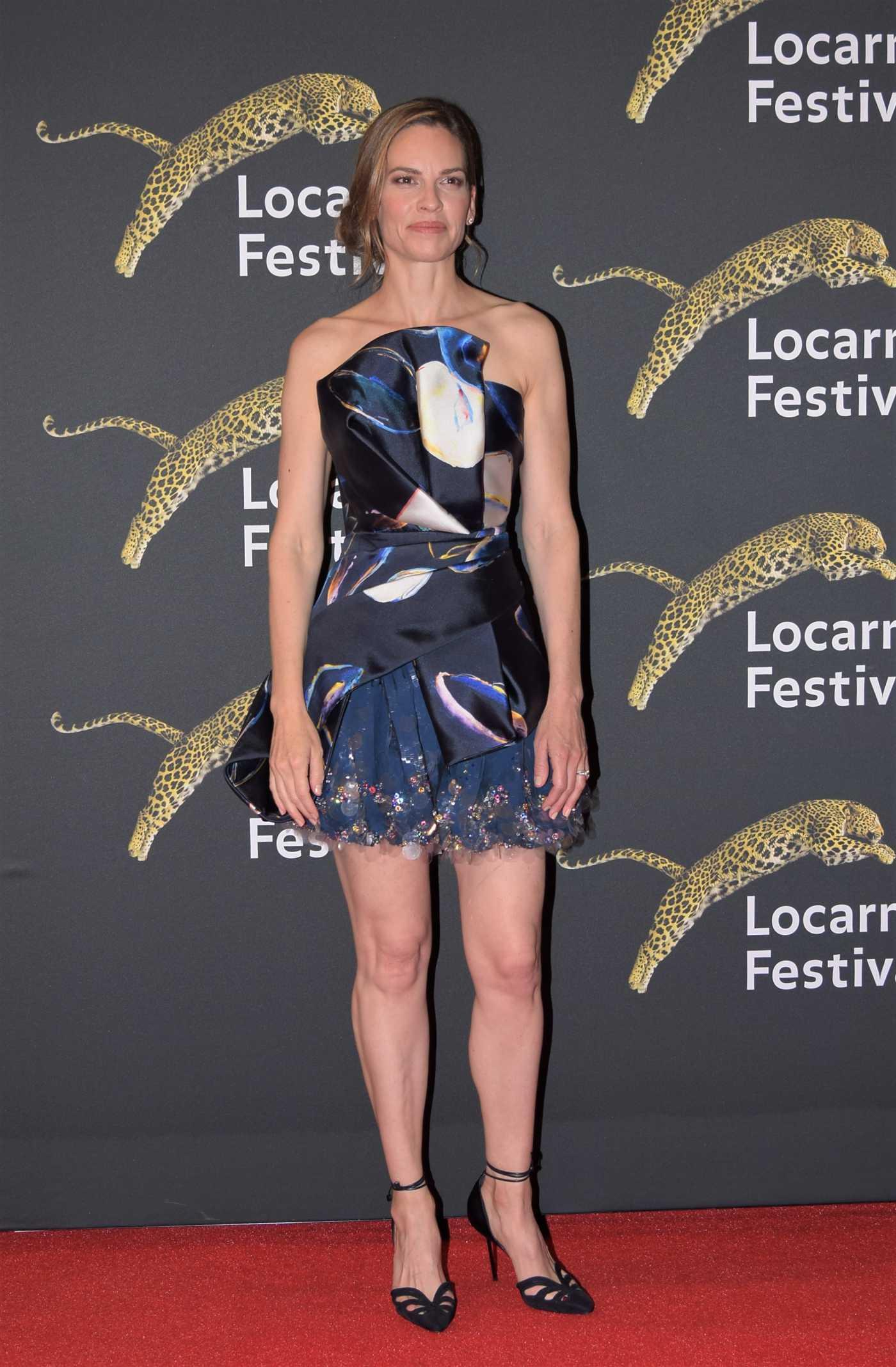 Hilary Swank Receivs the Leopard Club Award at 2019 Locarno Film Festival in Switzerland 08/09/2019