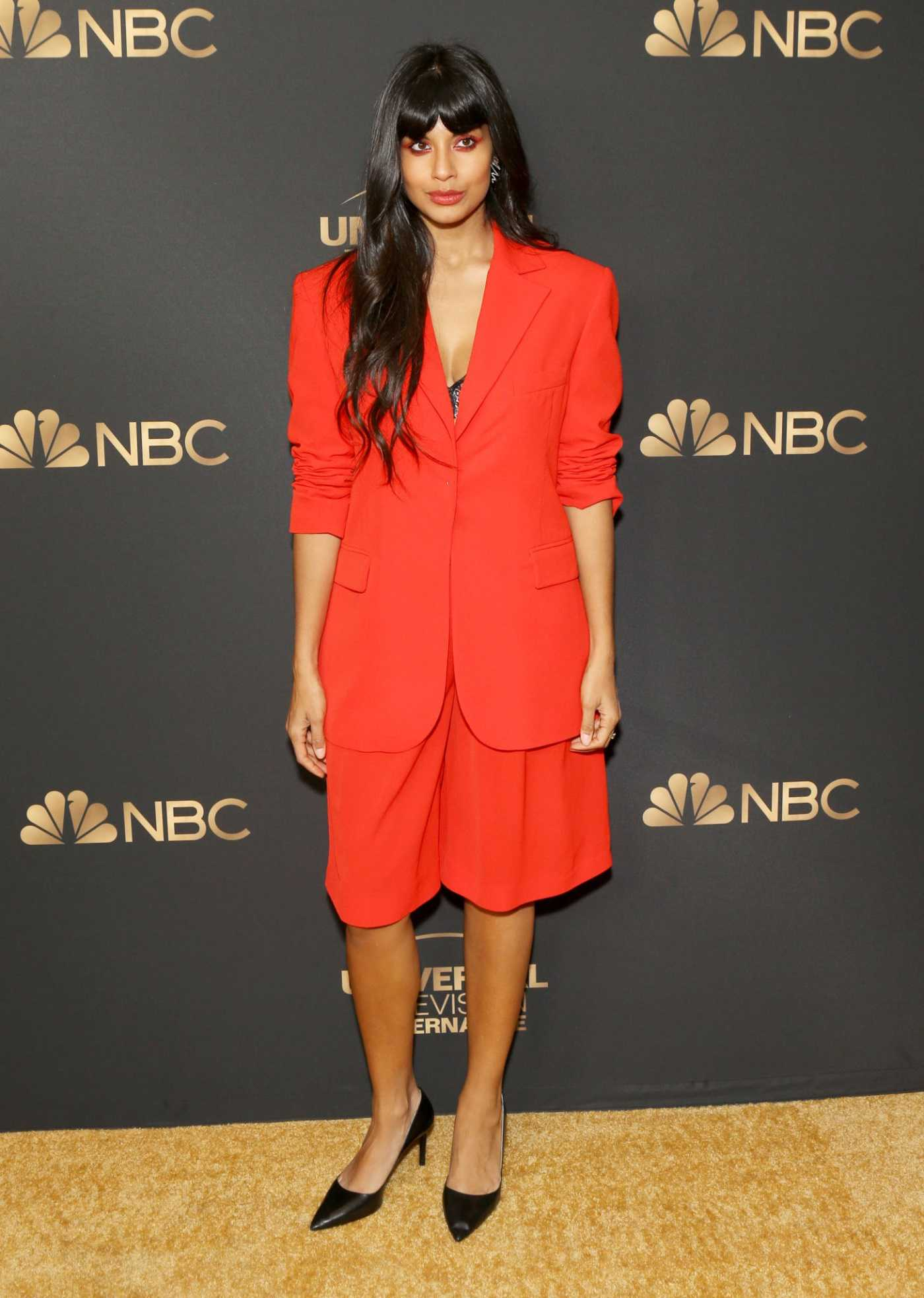 Jameela Jamil Attends the NBC and Universal EMMY Nominee Celebration at Tesse Restaurant in West Hollywood 08/13/2019