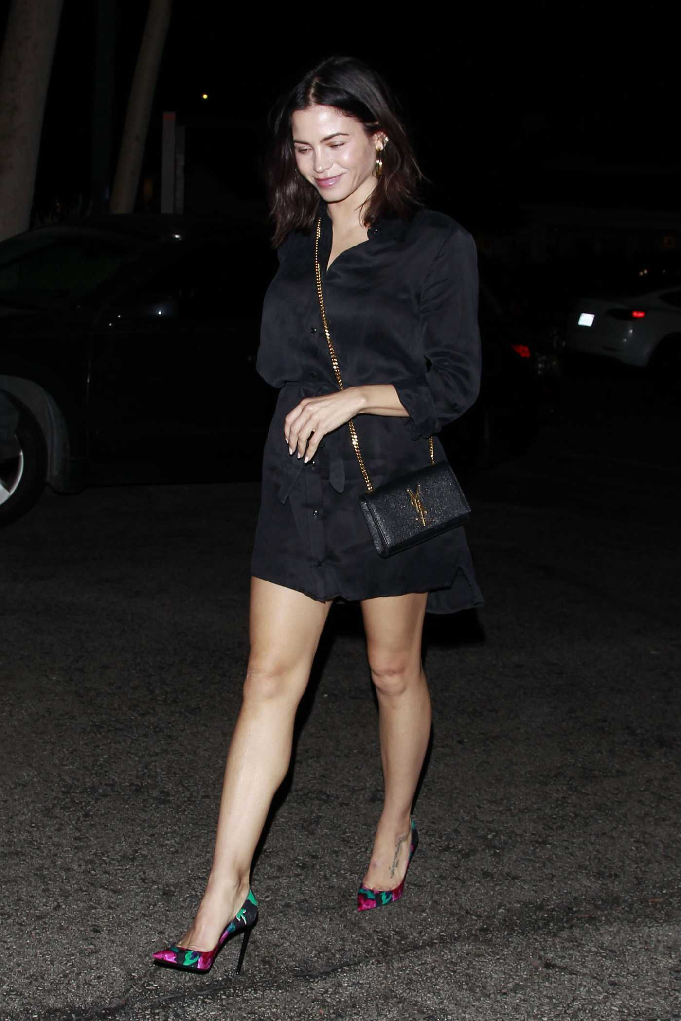 Jenna Dewan in a Black Dress Was Seen Out in Bel-Air 08/15/2019