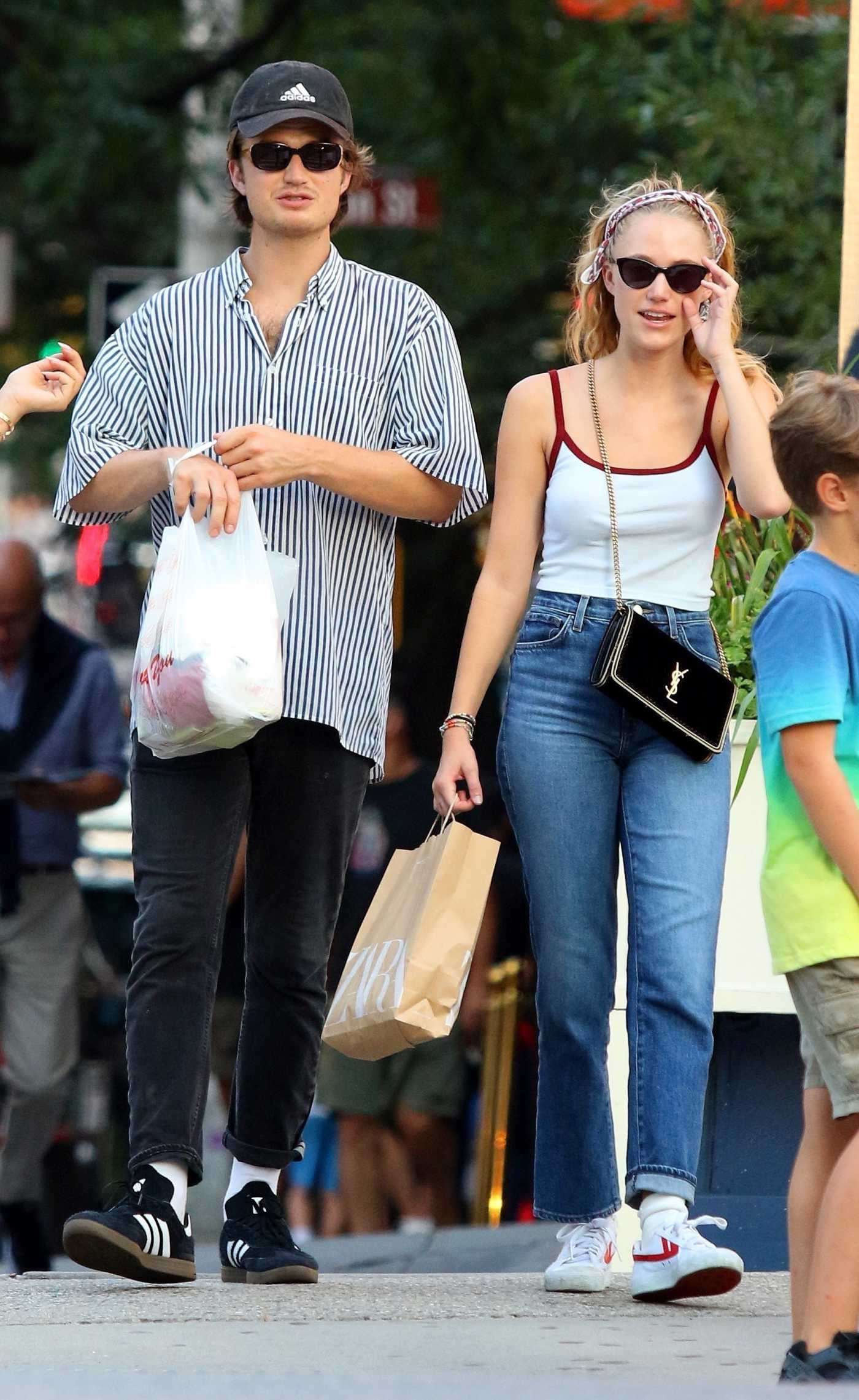 Joe Keery Was Seen Out with Maika Monroe in Soho, Manhattan 08/17/2019