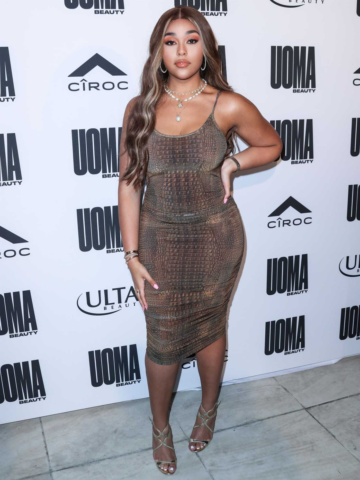 Jordyn Woods Attends the UOMA Beauty Summer Party in Beverly Hills 08/10/2019