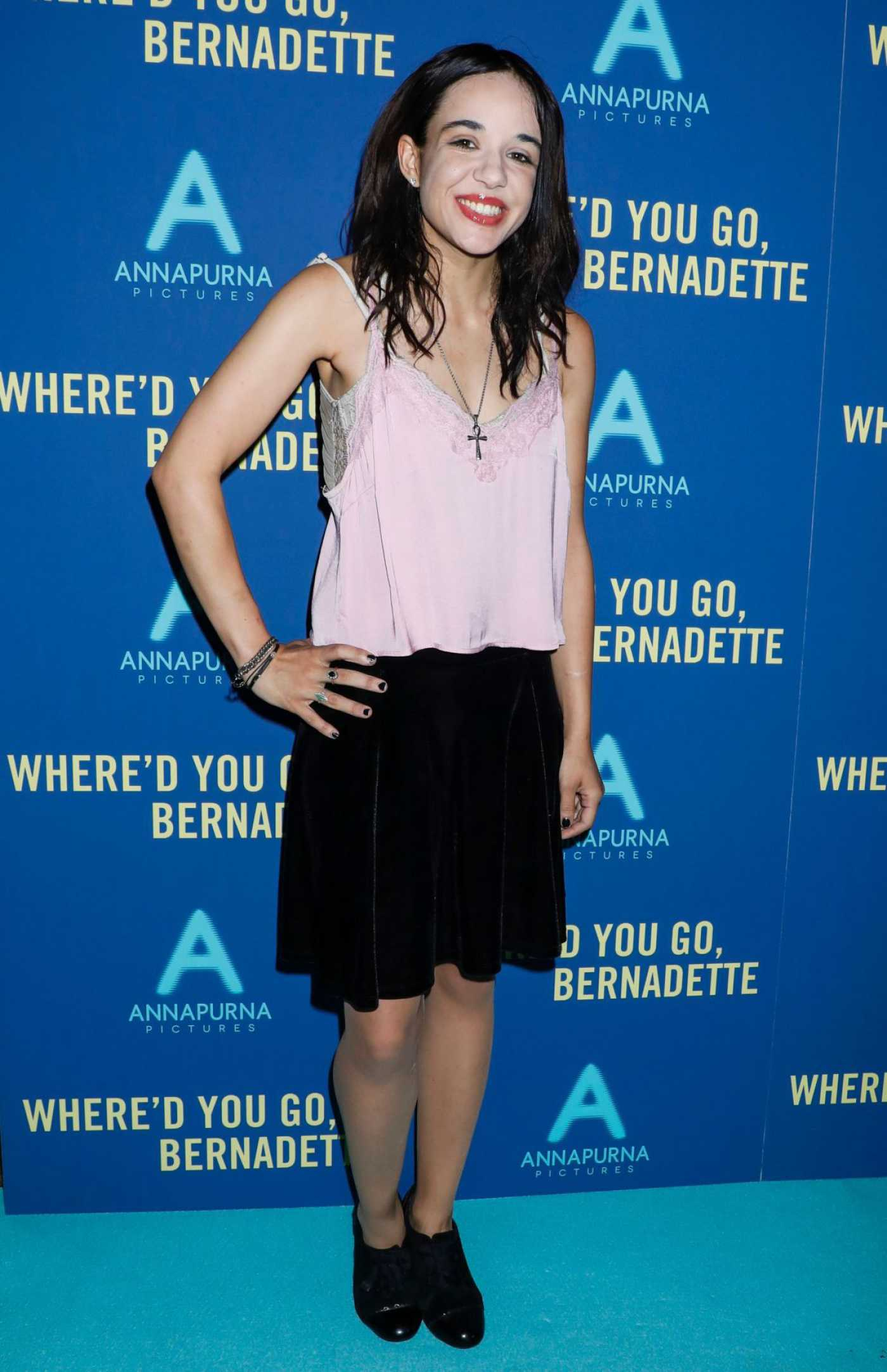 Lorelei Linklater Attends Where'd You Go Bernadette Screening in New York 08/12/2019