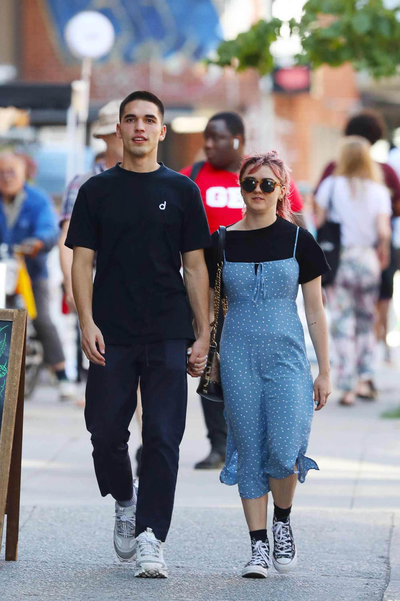 Maisie Williams Was Seen Out with Reuben Selby in SoHo, NY 08/29/2019