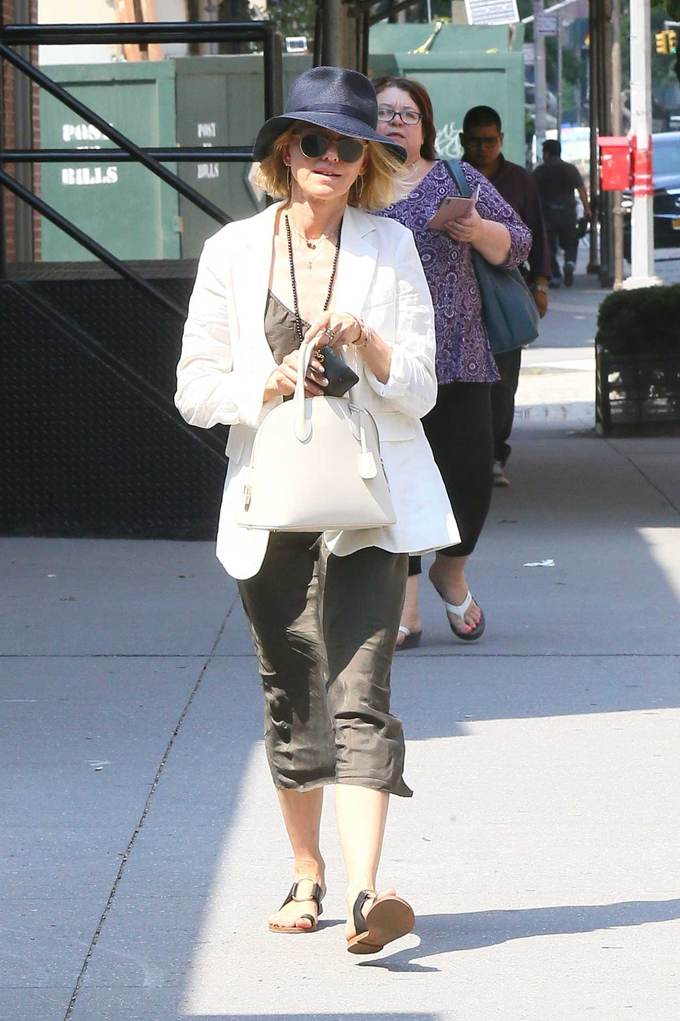 Naomi Watts in a White Blazer Was Seen Out in New York 07/29/2019