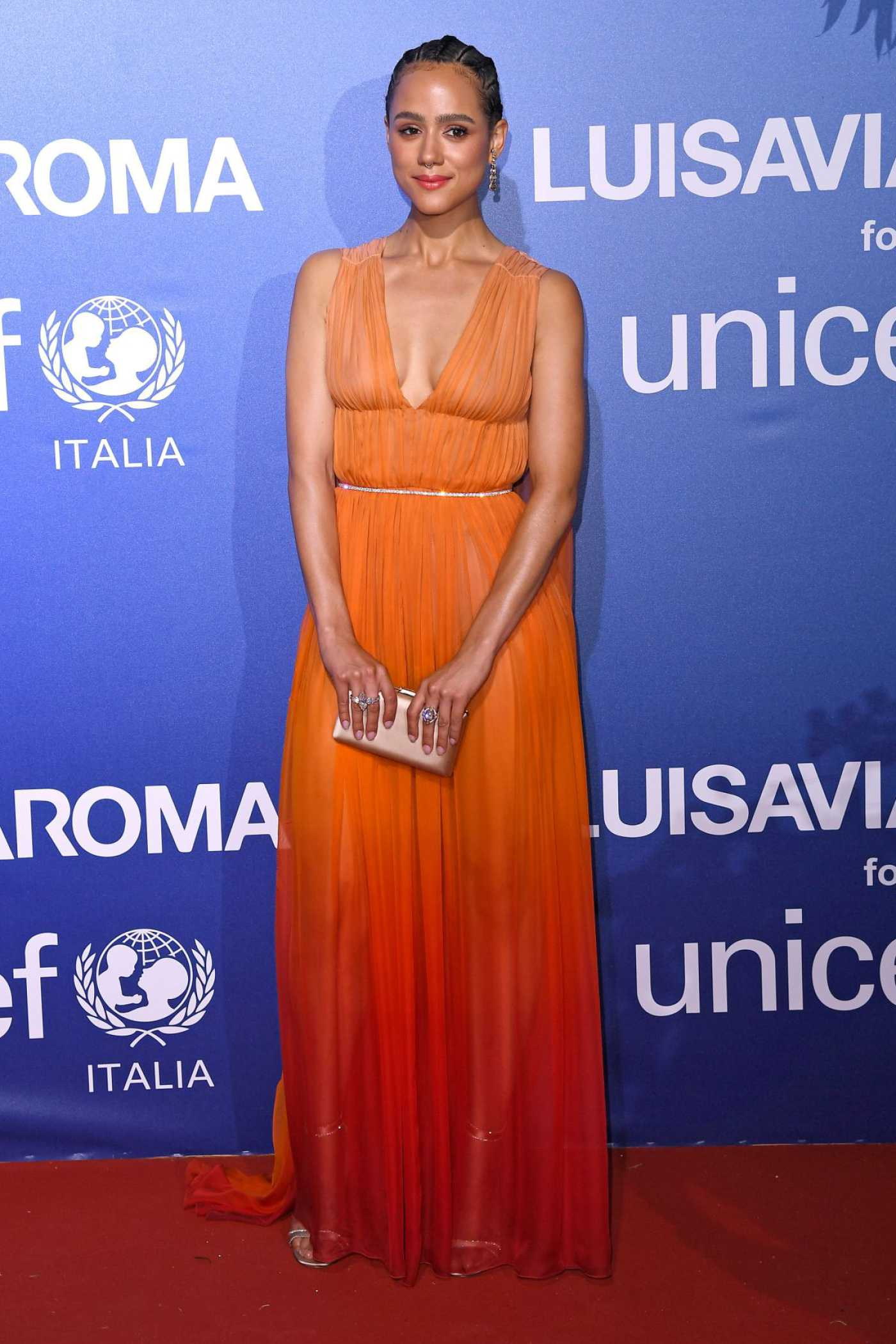 Nathalie Emmanuel Attends UNICEF Summer Gala Presented By LuisaViaRoma in Sardinia 08/09/2019