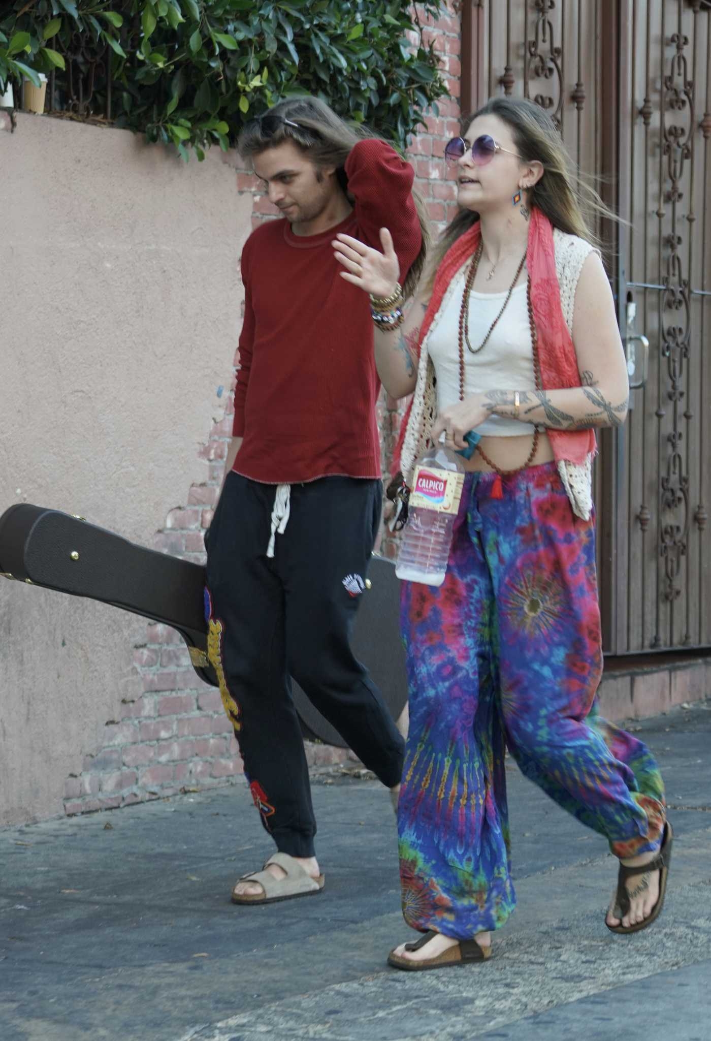 Paris Jackson in a Beige Top Was Seen Out in Hollywood 08/03/2019