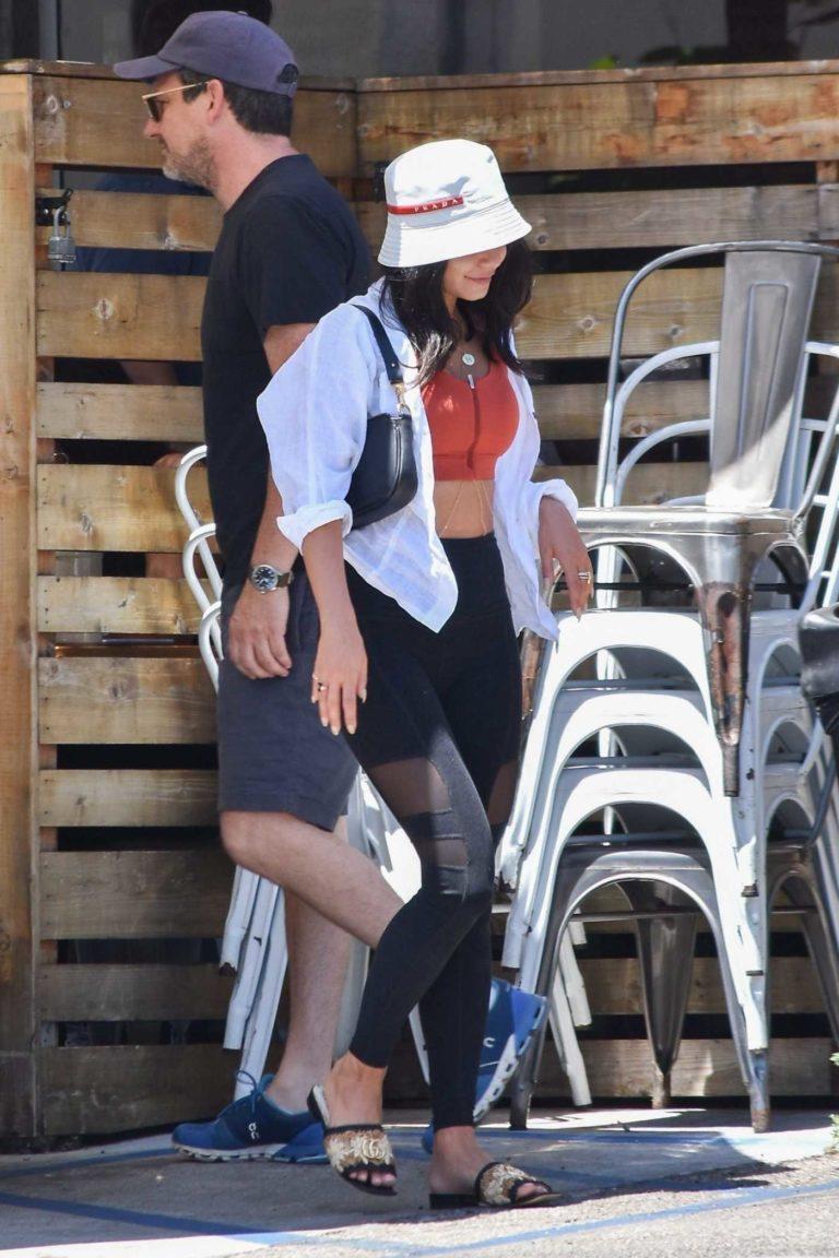 Vanessa Hudgens in a Black Leggings