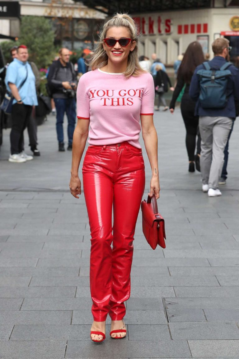 Ashley Roberts in a Red Pants