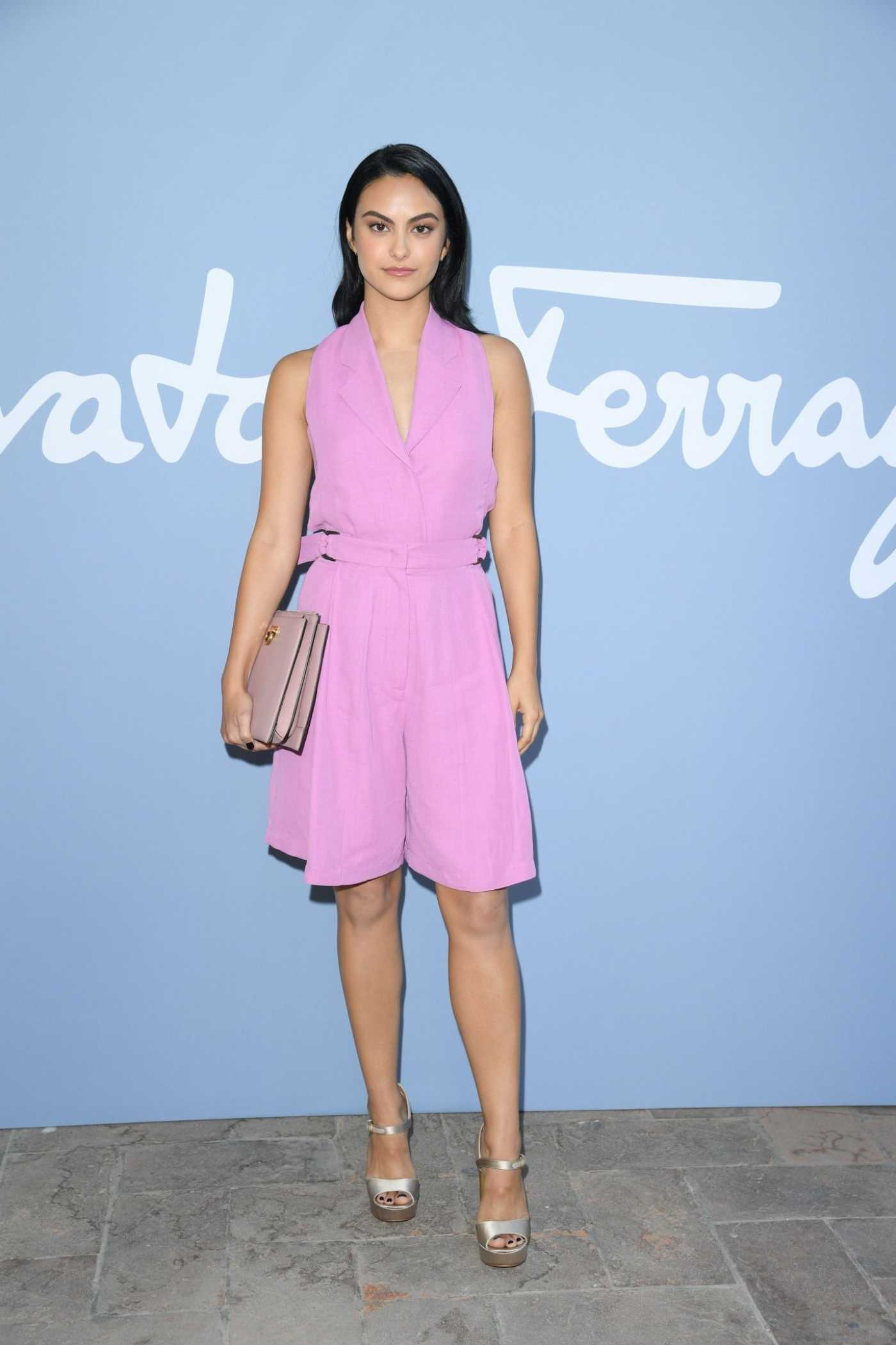 Camila Mendes Attends the Salvatore Ferragamo Show During 2019 Milan Fashion Week in Milan 09/20/2019