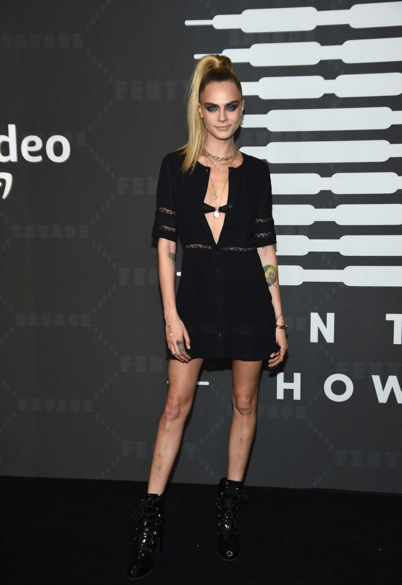 Cara Delevingne Attends Savage x Fenty Show in Brooklyn, New York 09/10/2019