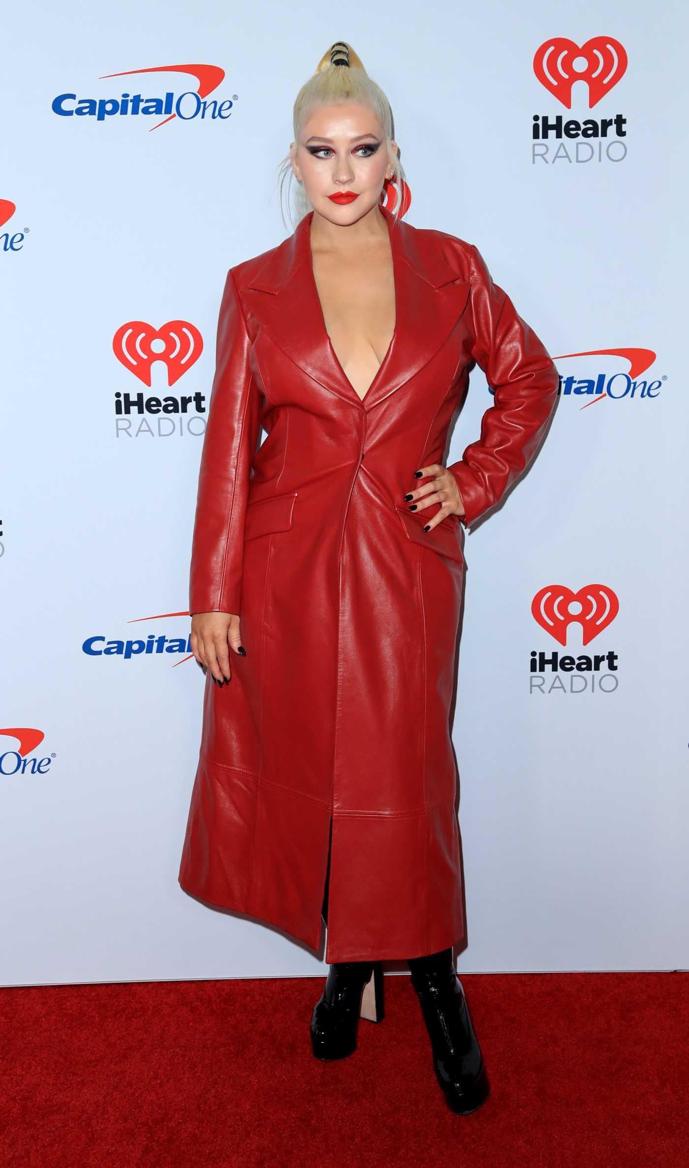 Christina Aguilera Attends 2019 iHeartRadio Music Festival in Las Vegas 09/20/2019
