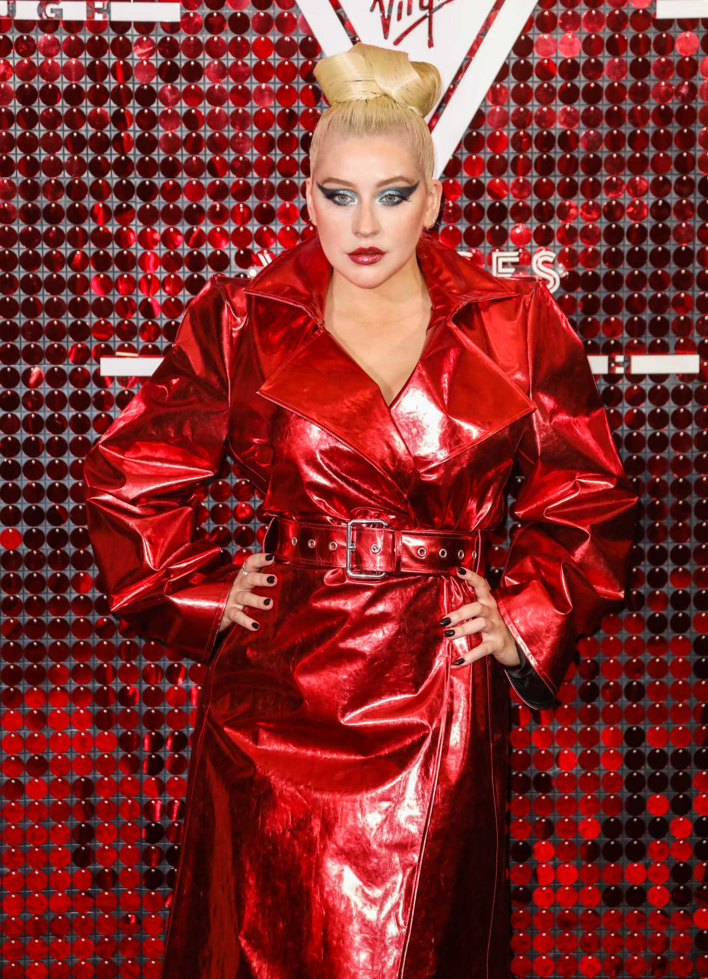 Christina Aguilera Attends the Virgin Voyages x Gareth Pugh Event at the Royal Opera House in London 09/15/2019