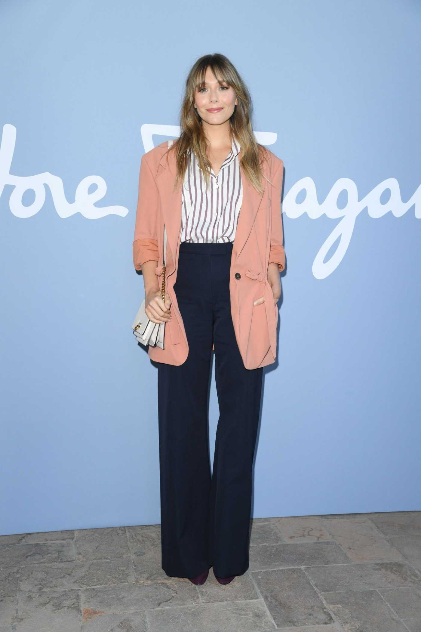 Elizabeth Olsen Attends the Salvatore Ferragamo Show During 2019 Milan Fashion Week in Milan 09/20/2019