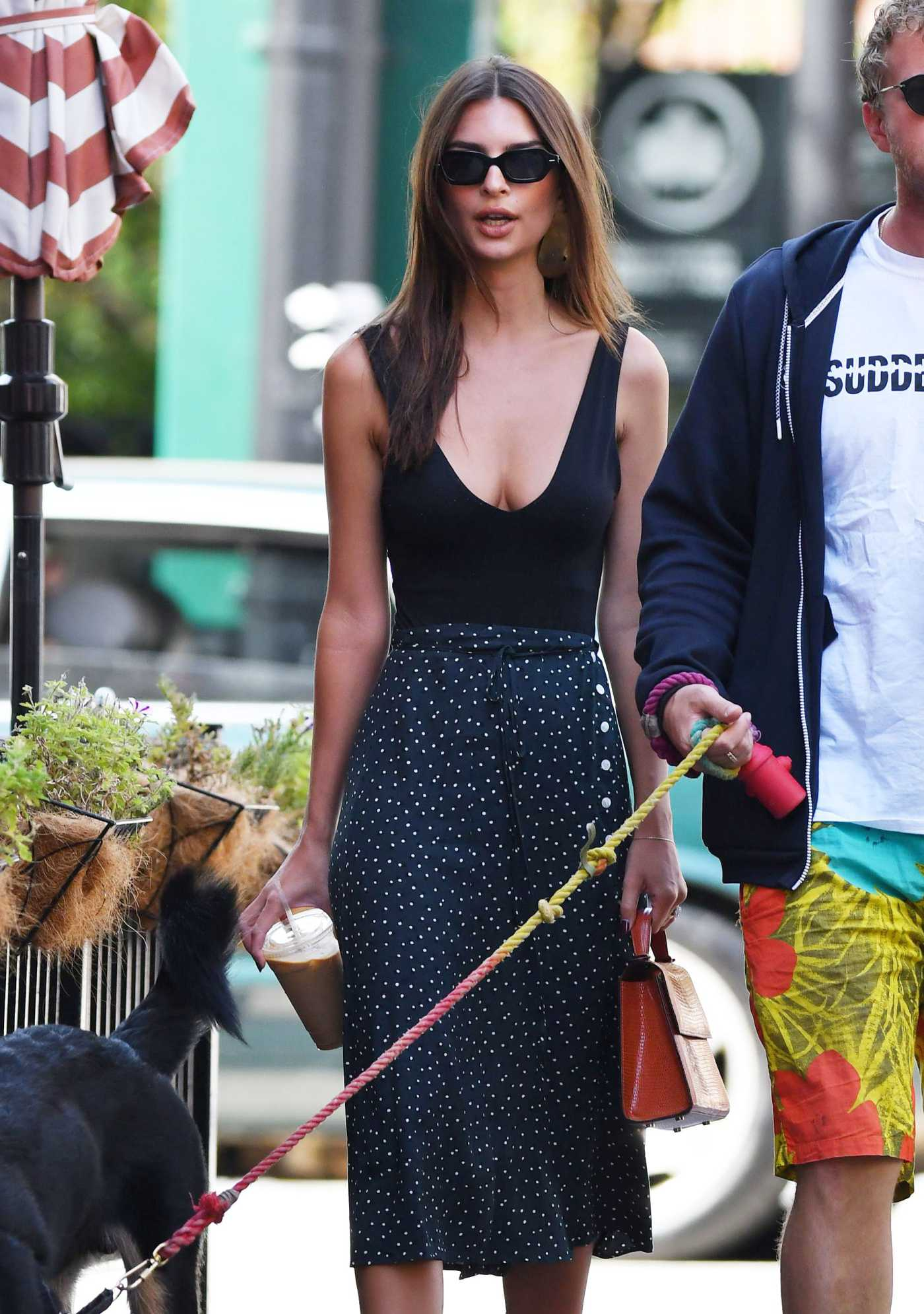 Emily Ratajkowski in a Black Top Was Seen Out with Sebastian Bear-McClard in NY 09/21/2019