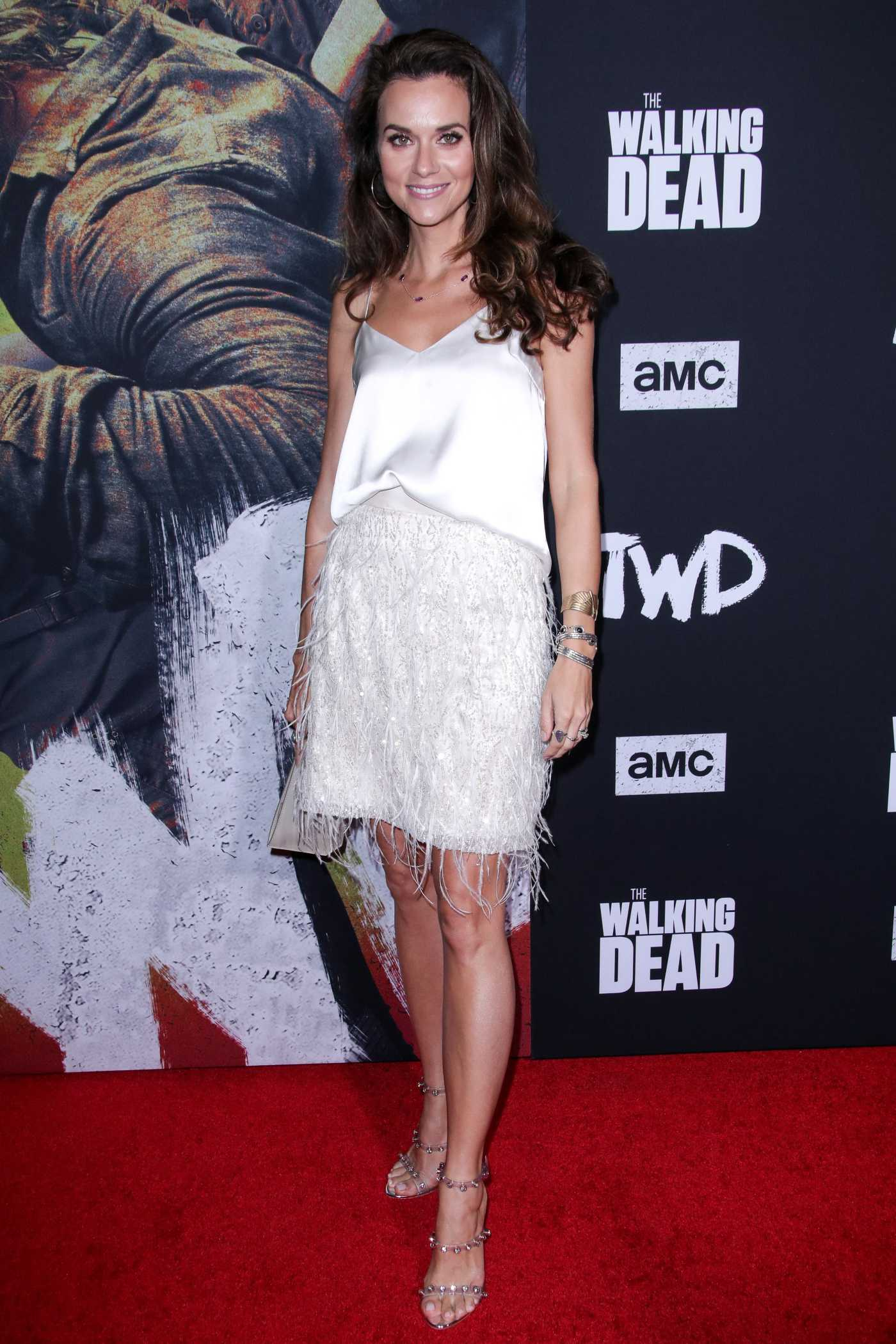 Hilarie Burton Attends The Walking Dead Premiere and Party at Chinese 6 Theater in Hollywood 09/23/2019