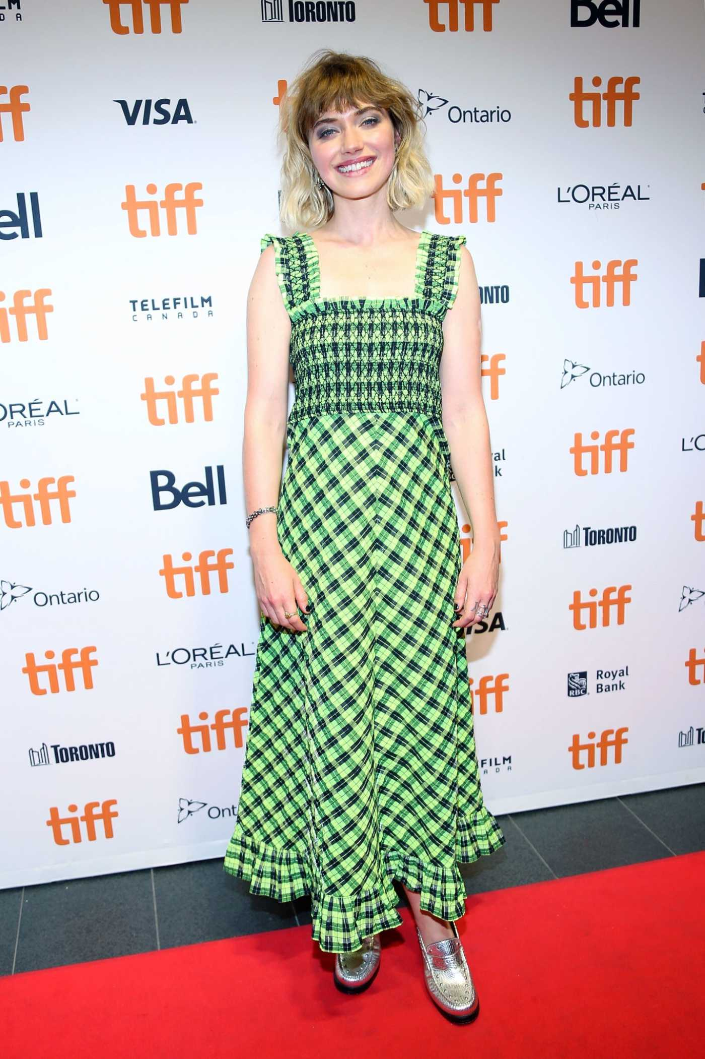 Imogen Poots Attends the Castle In The Ground Premiere During 2019 Toronto International Film Festival in Toronto 09/05/2019