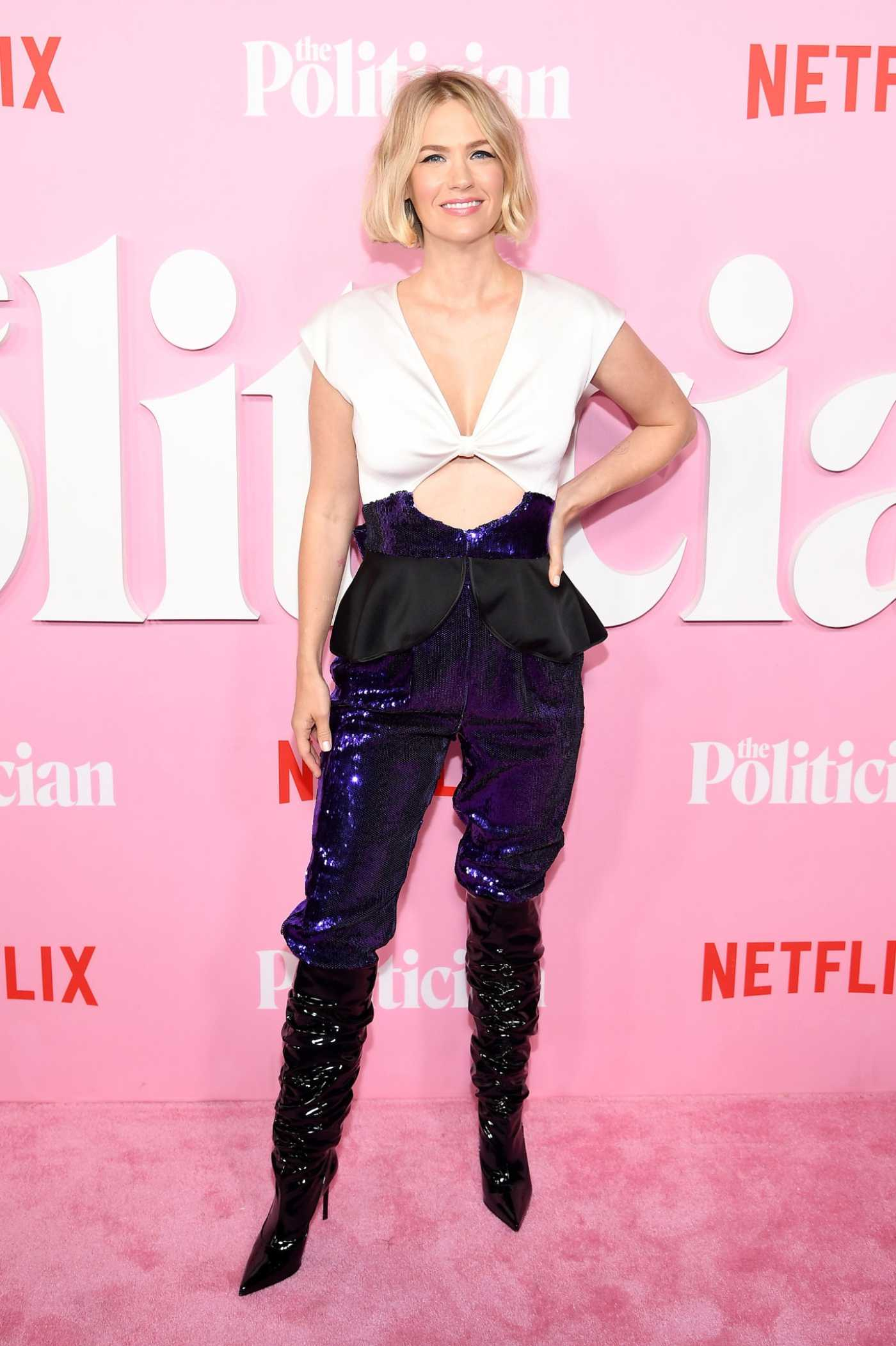 January Jones Attends The Politician Premiere in New York 09/26/2019