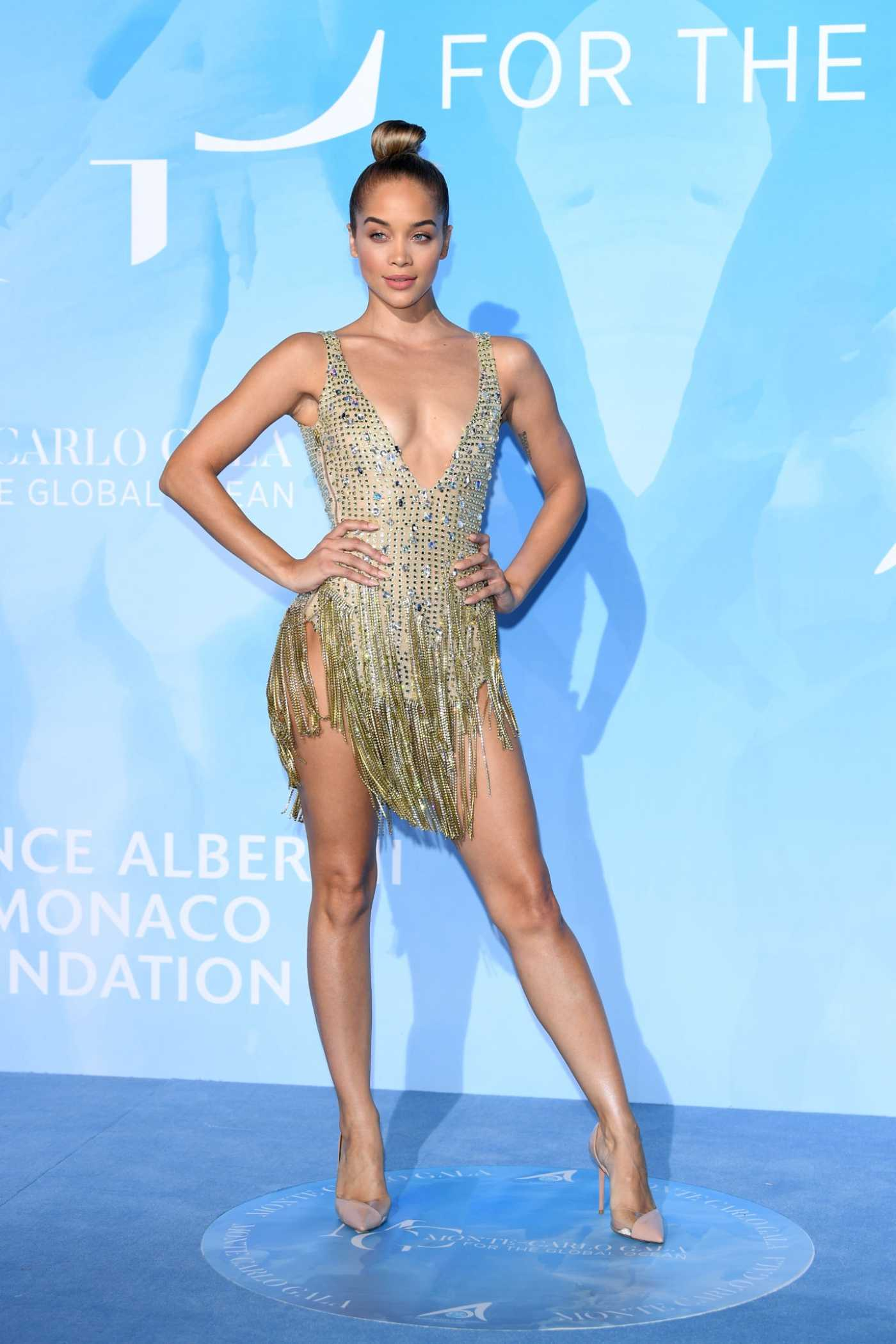 Jasmine Sanders Attends the Gala for the Global Ocean in Monte-Carlo 09/26/2019