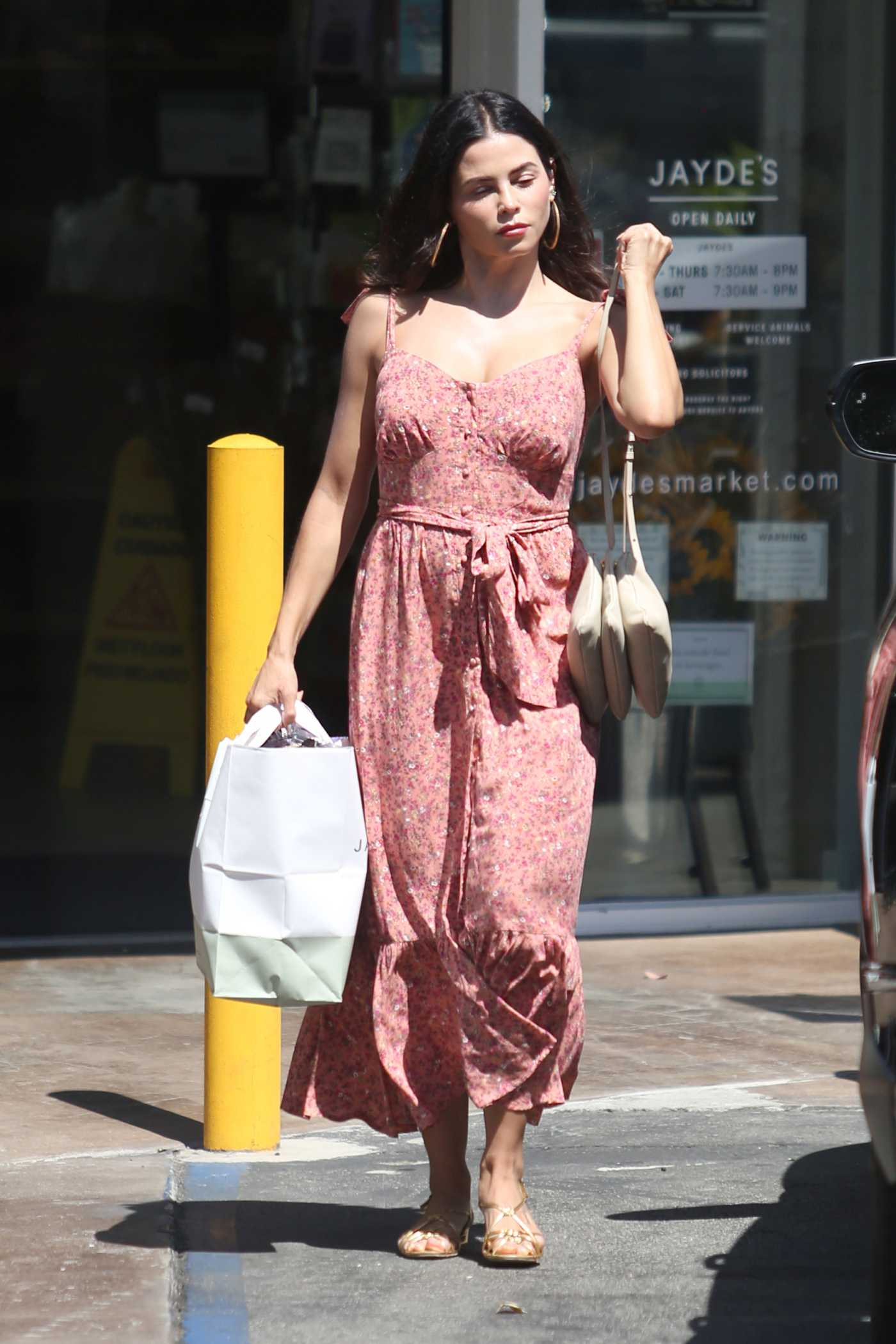 Jenna Dewan in a Pink Floral Dress Was Seen Out in Los Angeles 09/03/2019