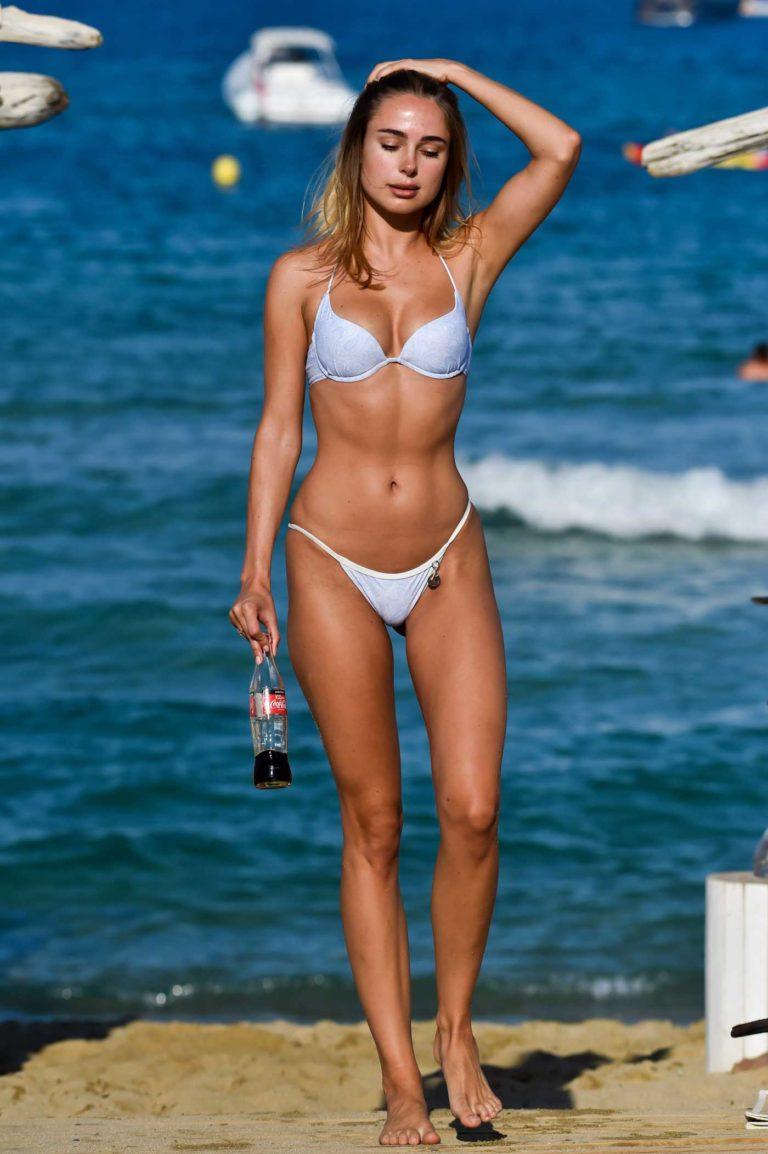 Kimberley Garner in a White Bikini