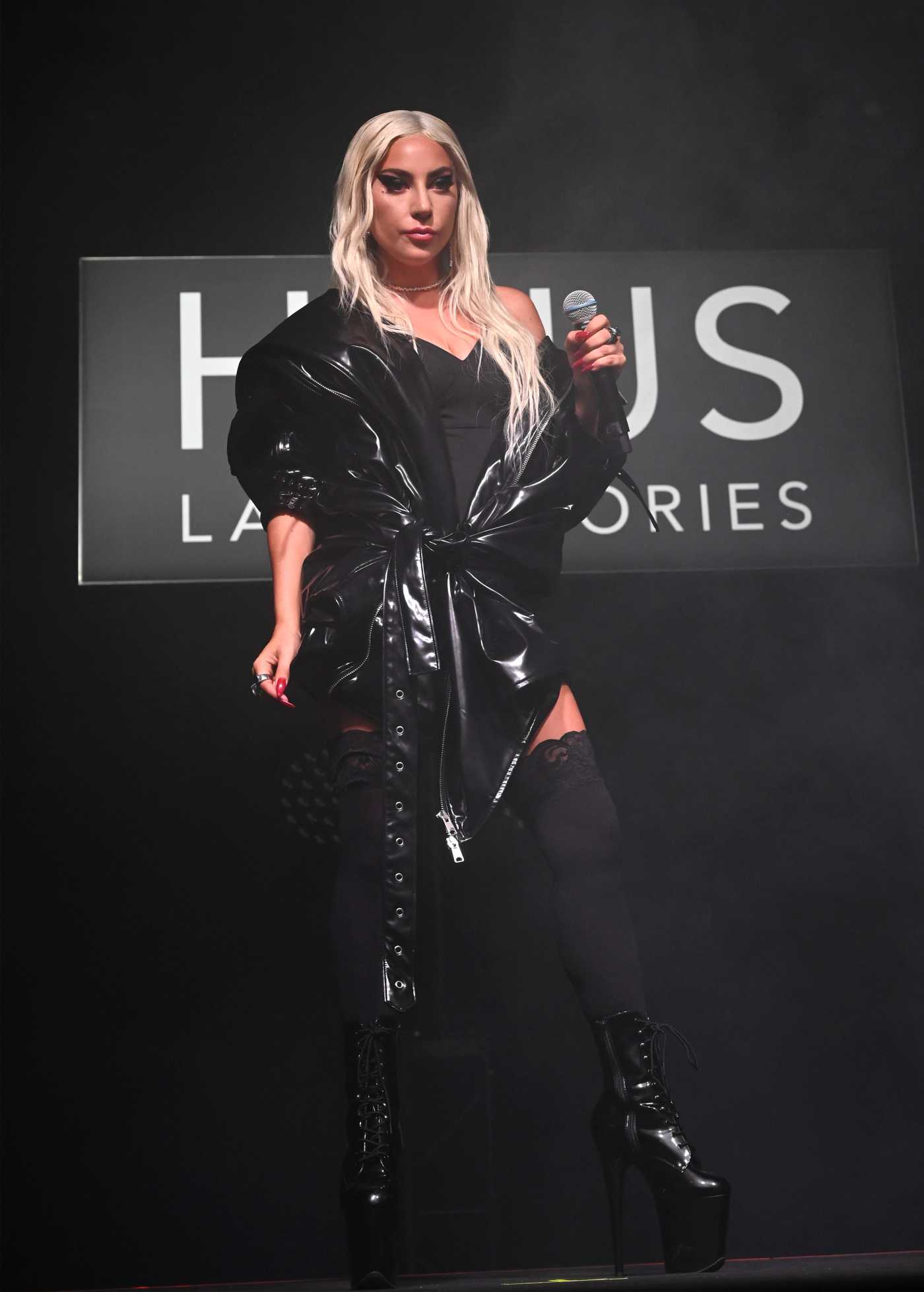 Lady Gaga Attends the Haus Laboratories Launch at Barker Hangar in Santa Monica 09/16/2019