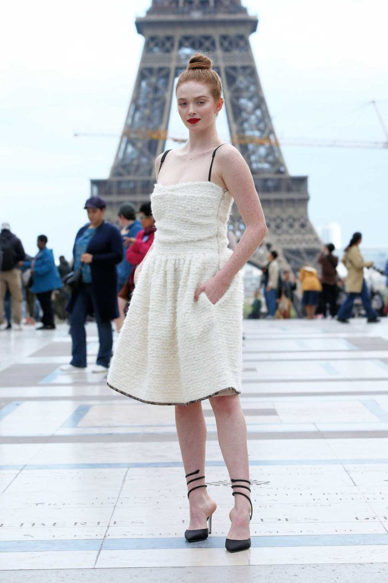 Larsen Thompson in a White Dress