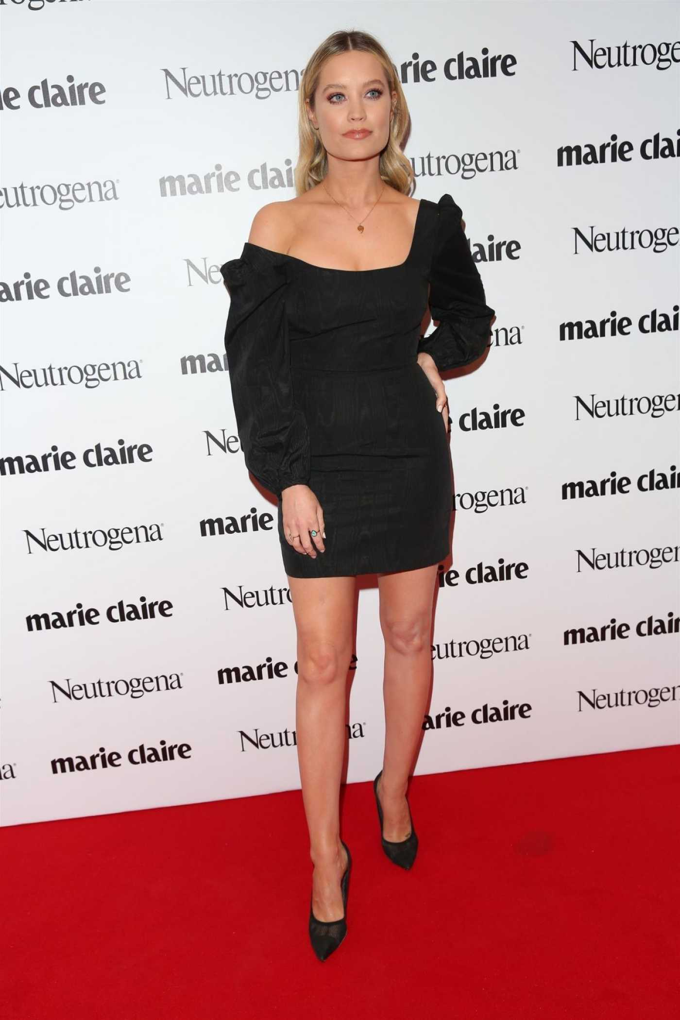 Laura Whitmore Attends 2019 Marie Claire Future Shapers Awards in London 09/19/2019