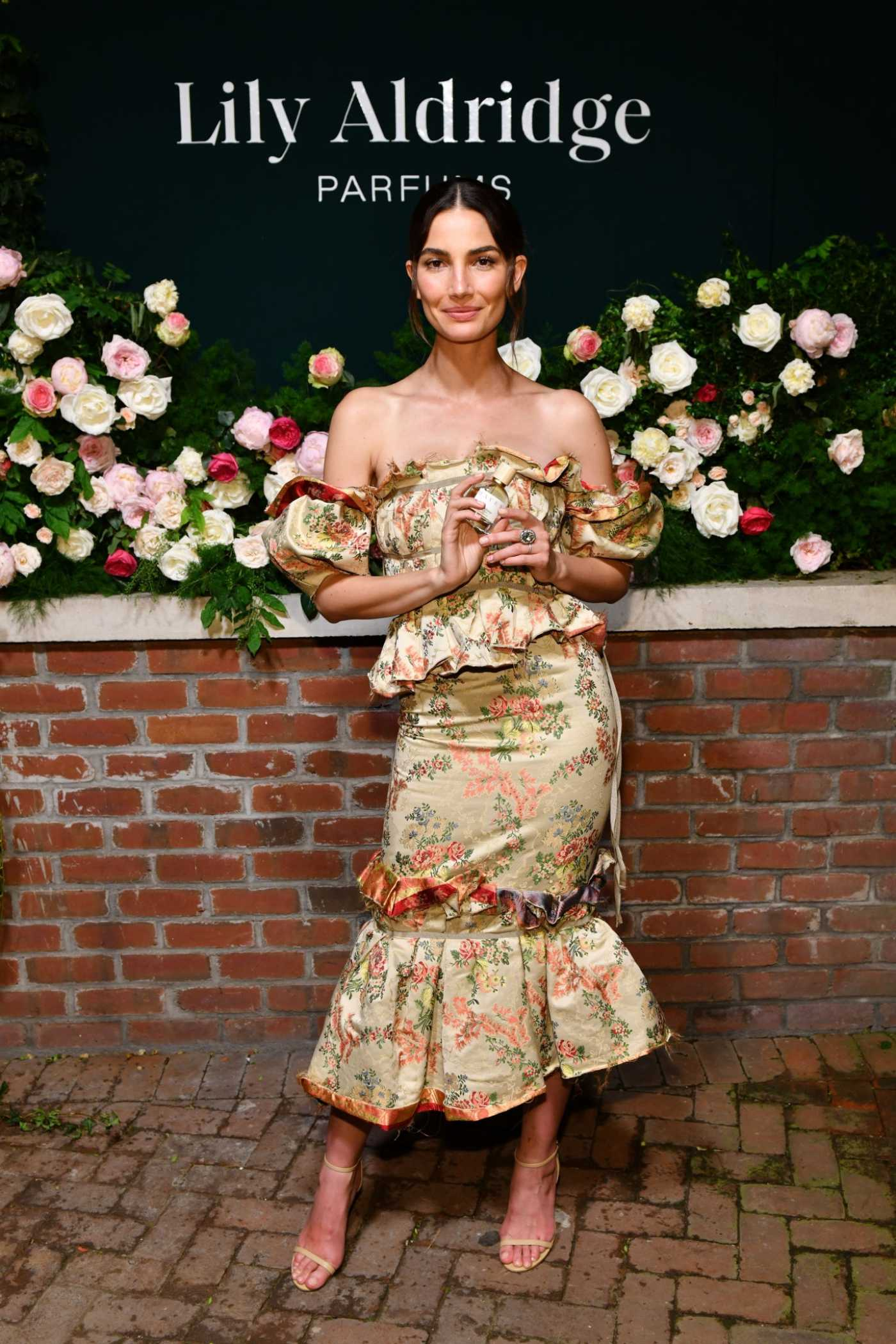 Lily Aldridge Attends the Lily Aldridge Parfums Launch Event at the Bowery Hotel in NYC 09/08/2019