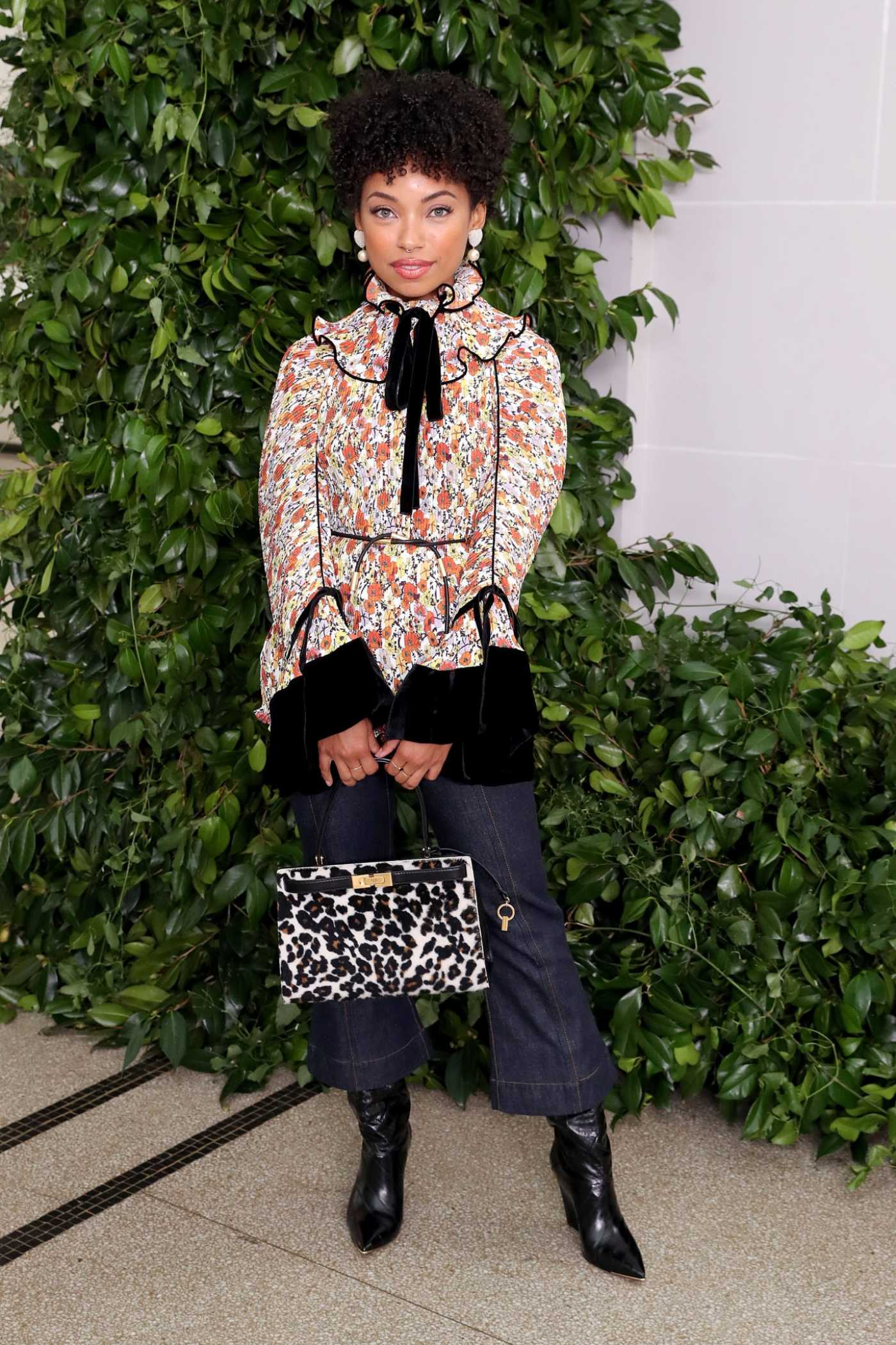 Logan Browning Attends the Tory Burch Fashion Show During NYFW in New York 09/08/2019
