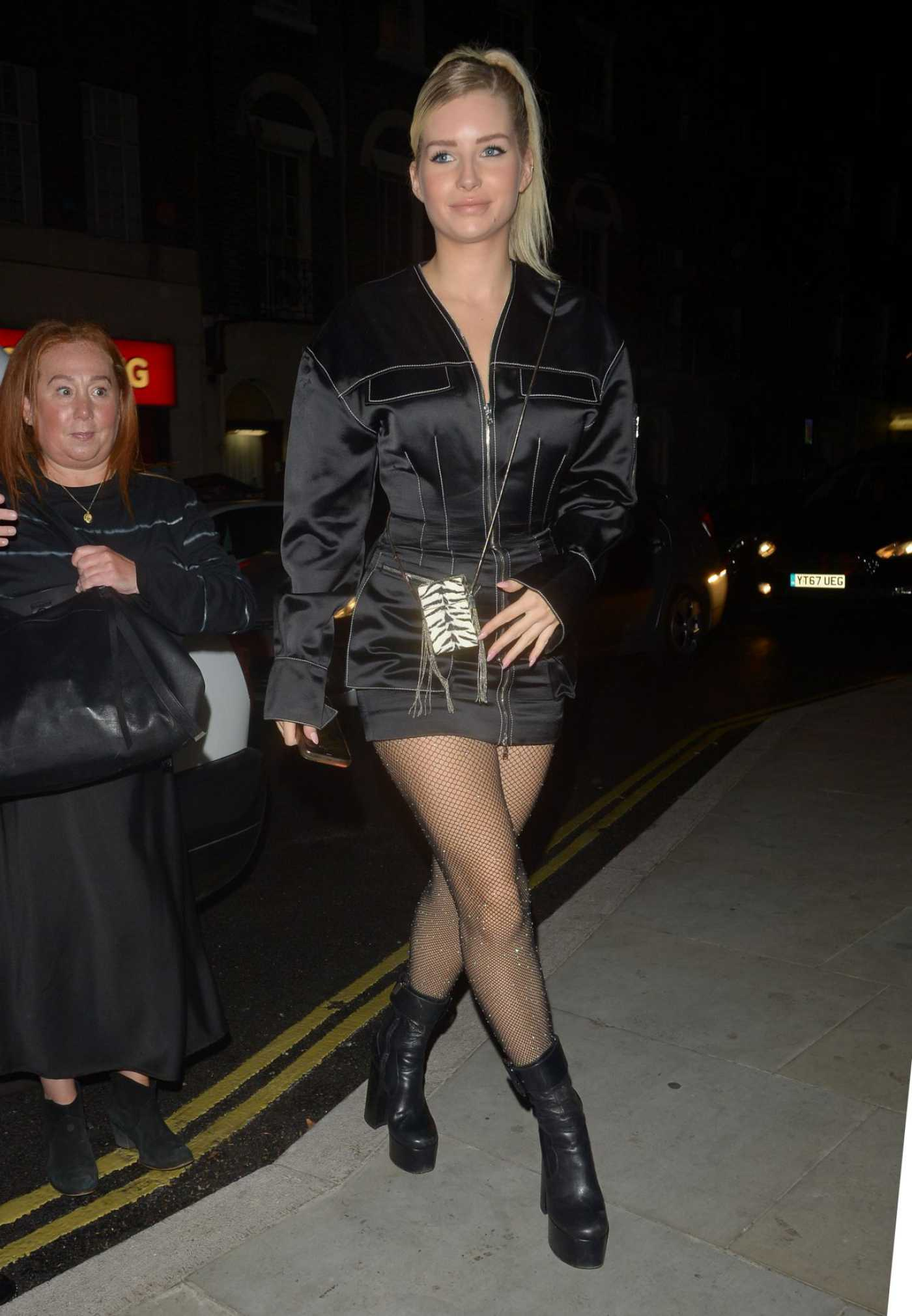 Lottie Moss in a Short Black Dress Arrives at the Love Magazine Party in London 09/16/2019